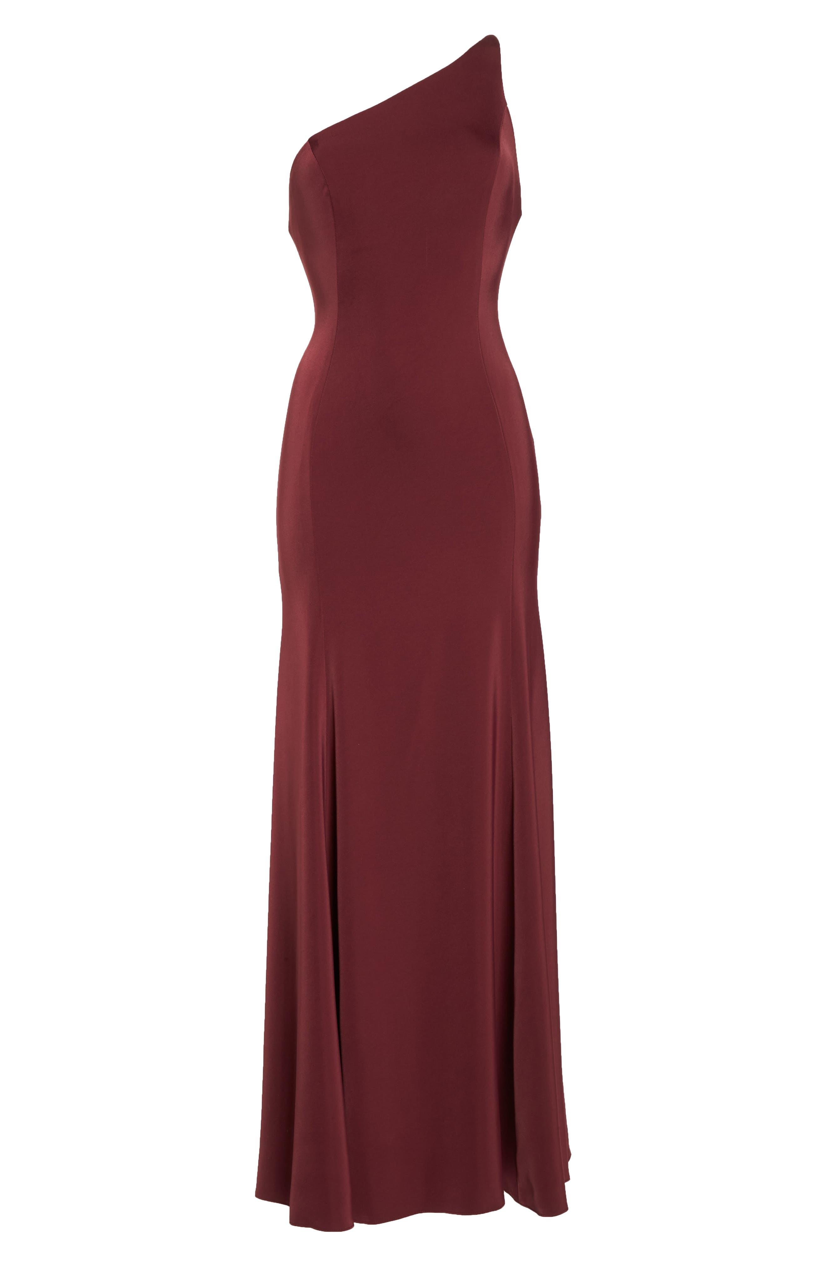 Jelina One-Shoulder Gown,                             Alternate thumbnail 6, color,                             600