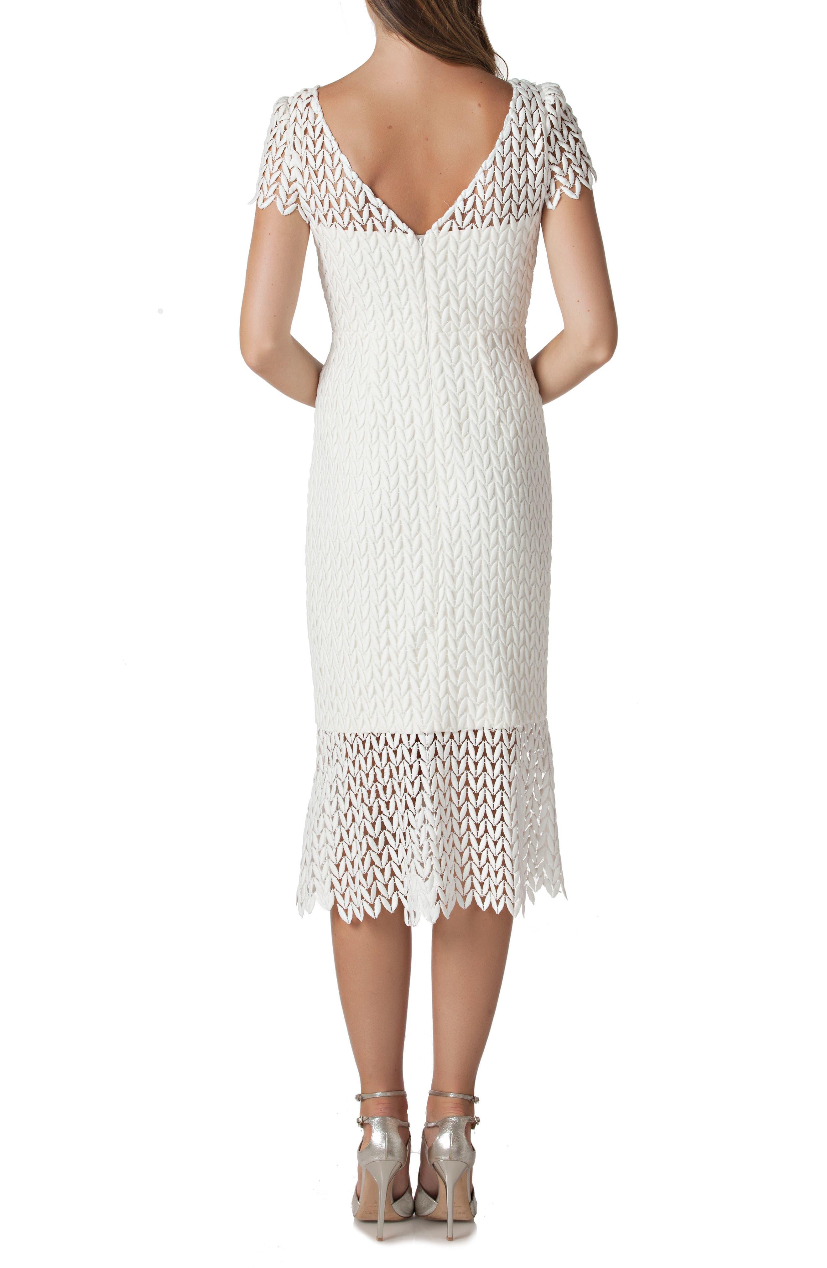 Fishnet Lace Sheath Dress,                             Alternate thumbnail 2, color,