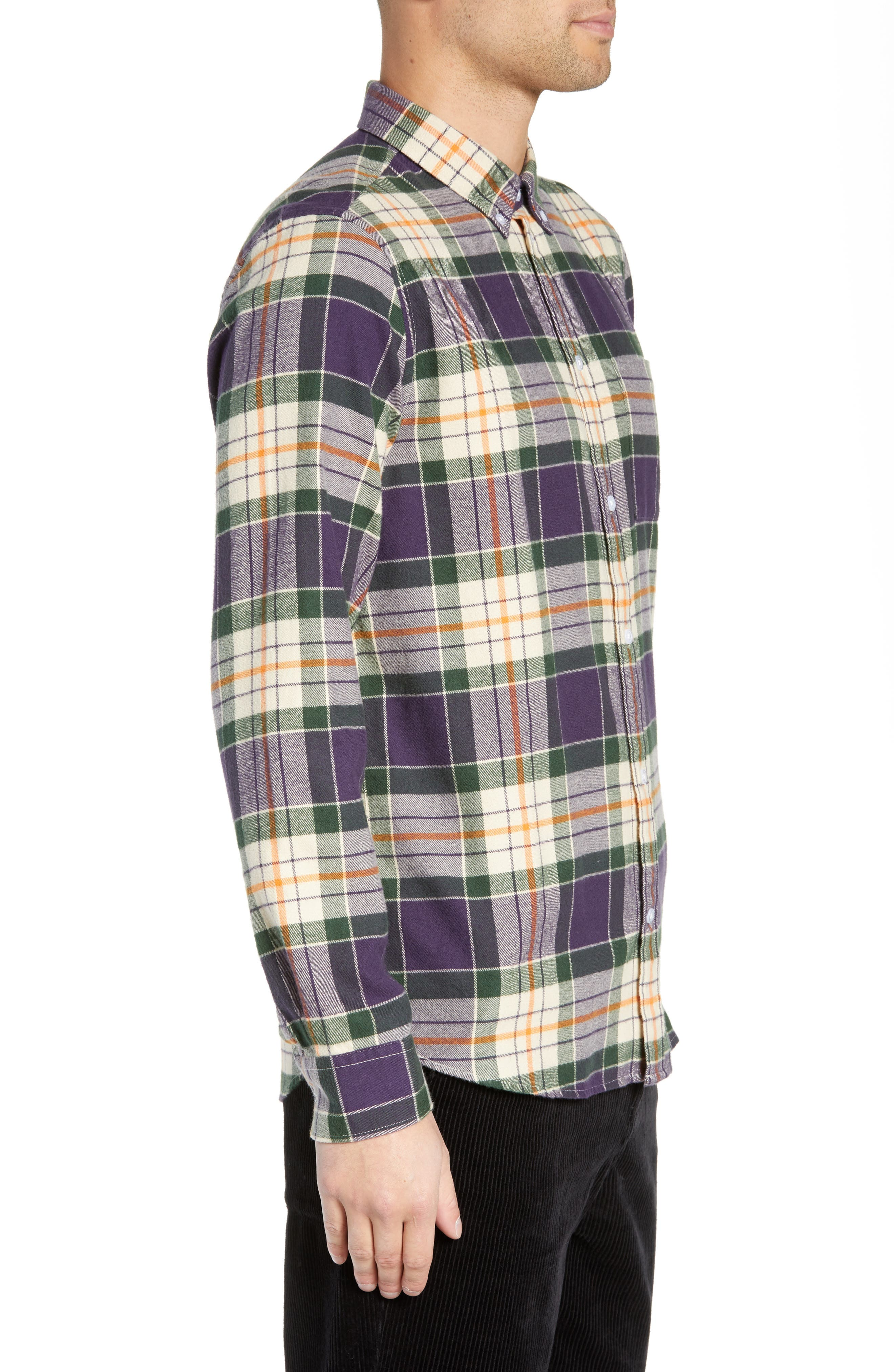 Ovavi Plaid Flannel Shirt,                             Alternate thumbnail 4, color,                             542