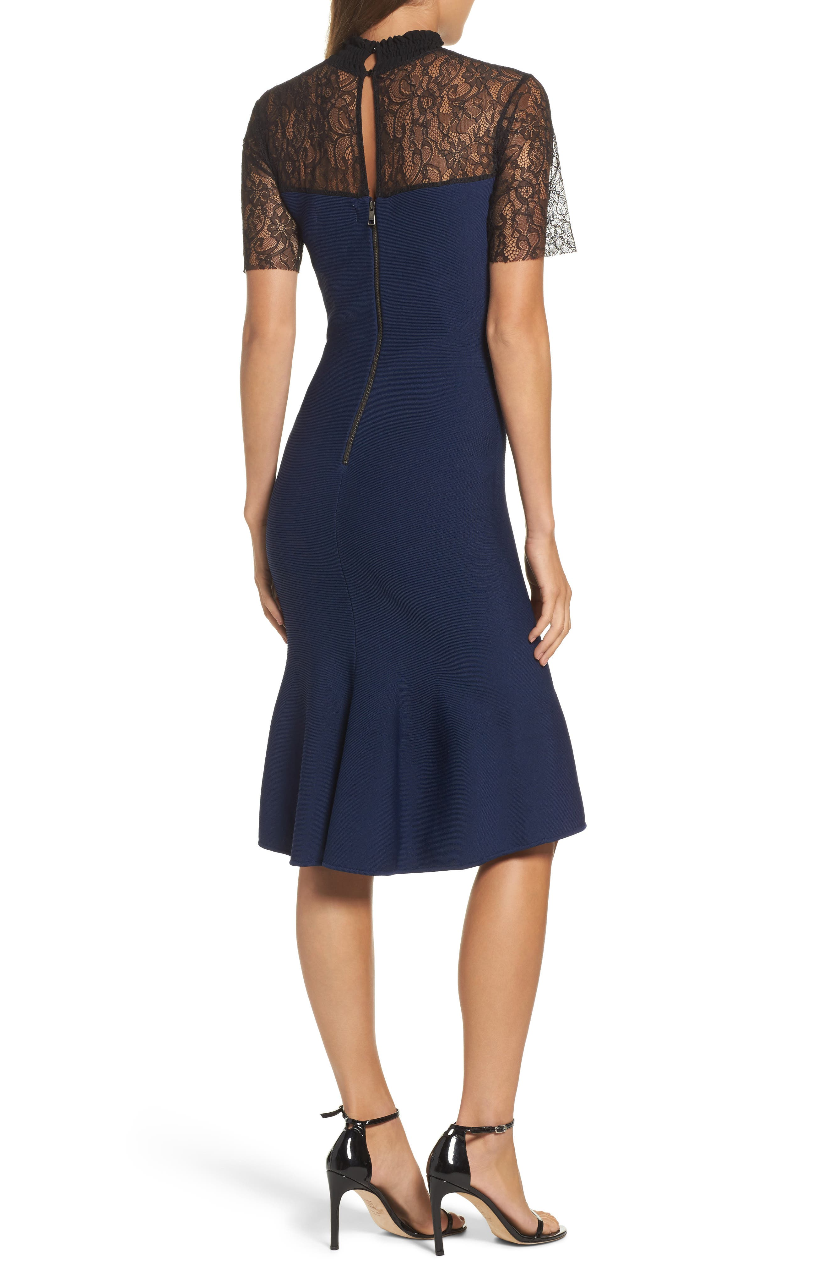 Noir Deena Fit & Flare Dress,                             Alternate thumbnail 2, color,                             410