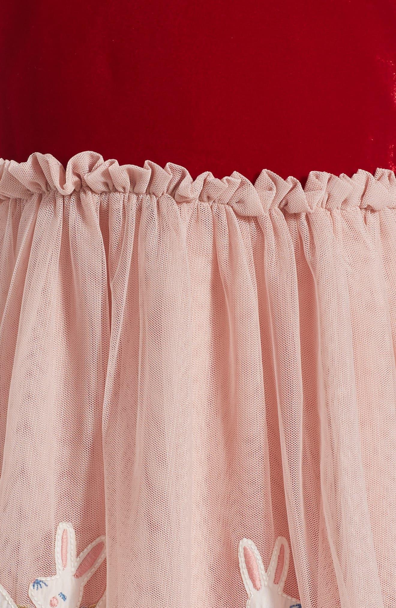 Velvet Tulle Dress,                             Alternate thumbnail 2, color,                             654