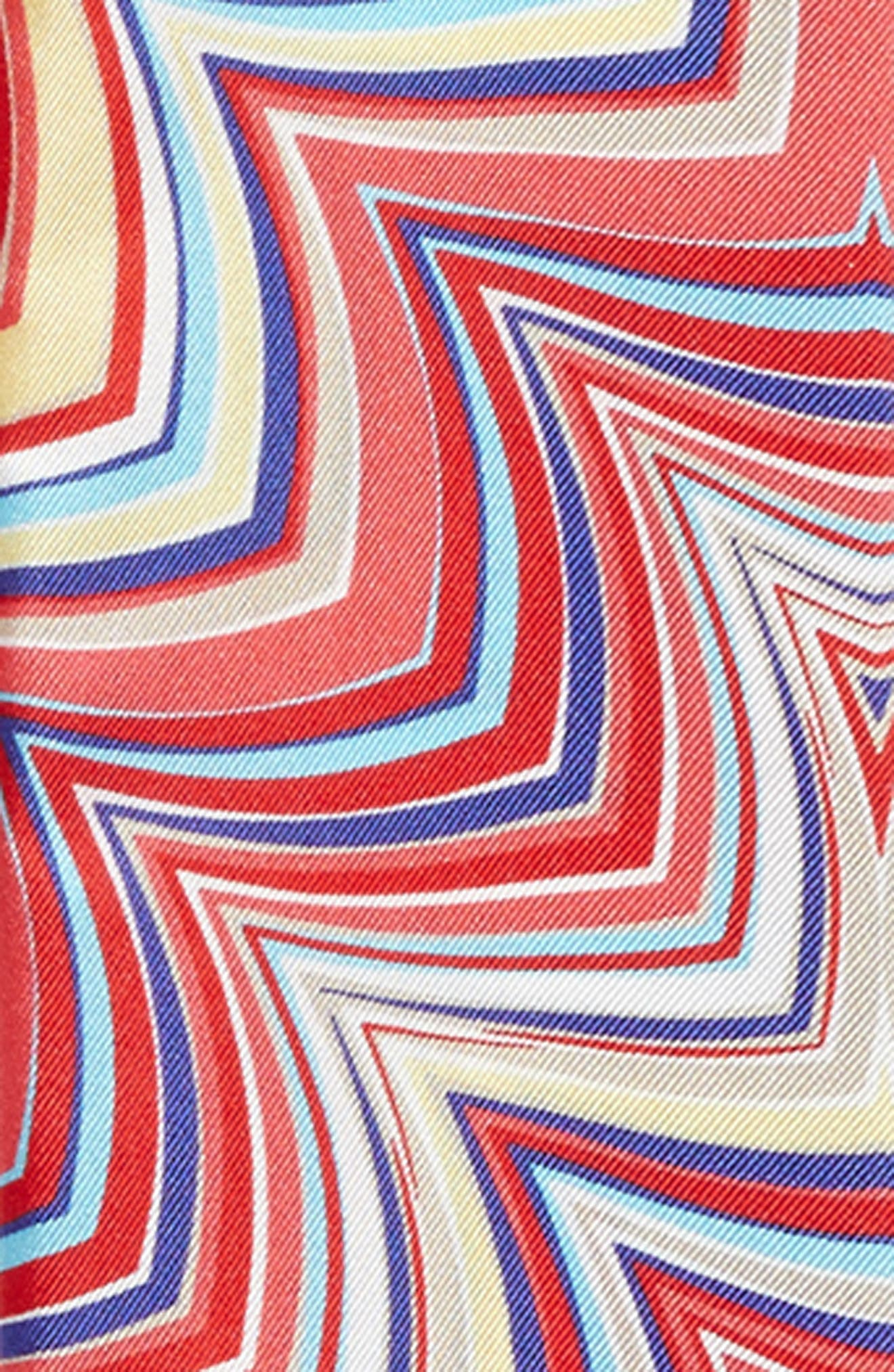 Print Silk Skinny Scarf,                             Alternate thumbnail 3, color,                             400