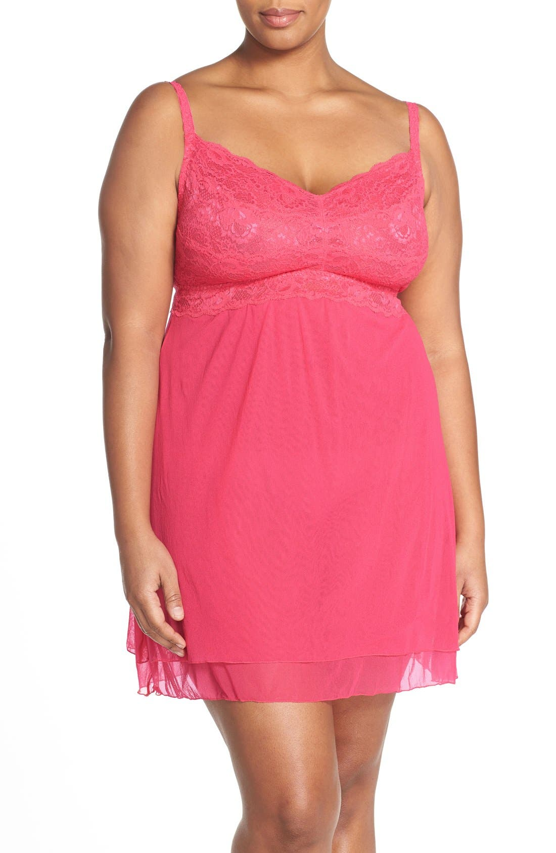 'Never Say Never' Babydoll Chemise,                             Main thumbnail 4, color,