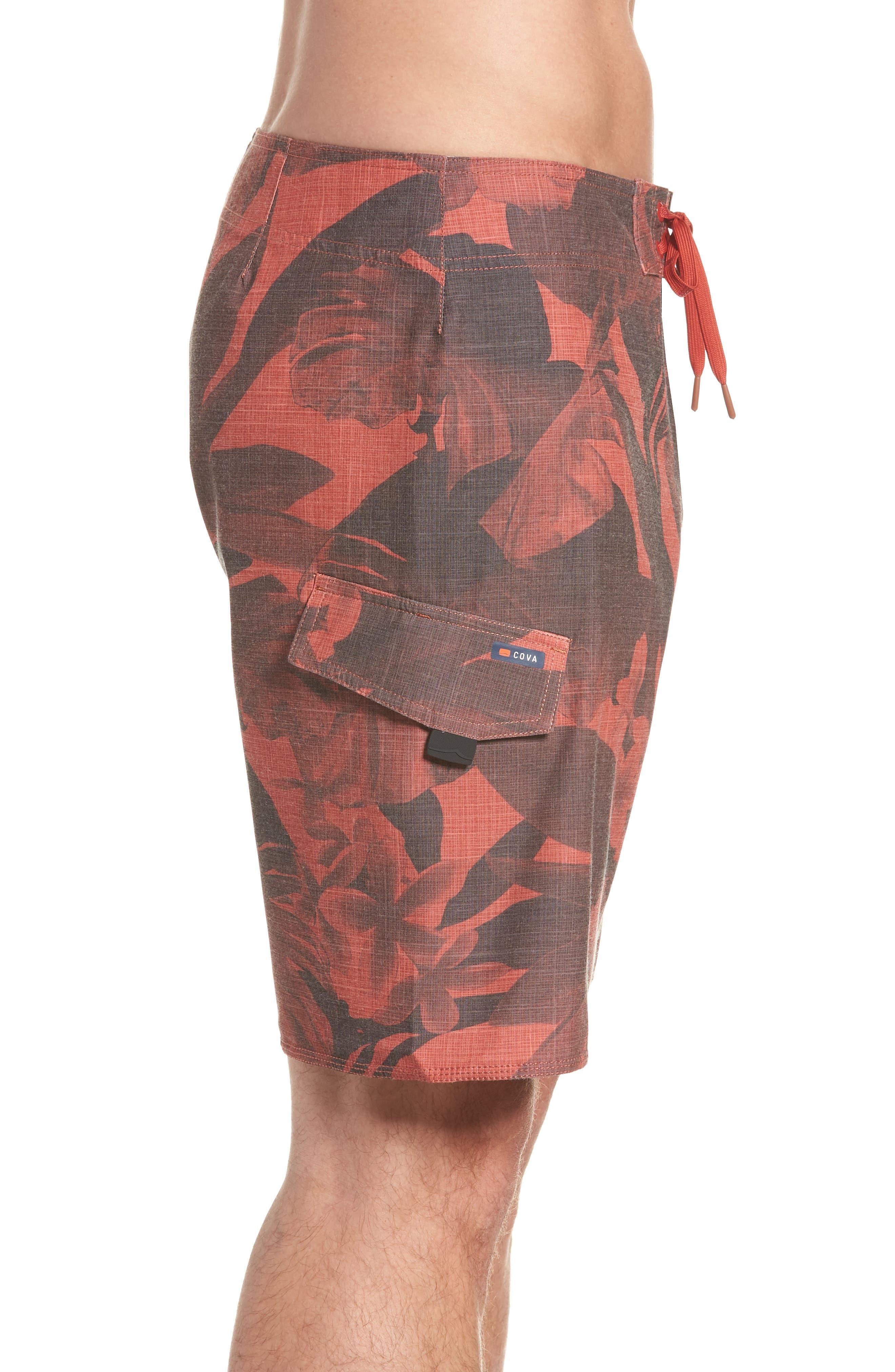 COVA,                             Regular Fit Lazy Daze Board Shorts,                             Alternate thumbnail 3, color,                             602