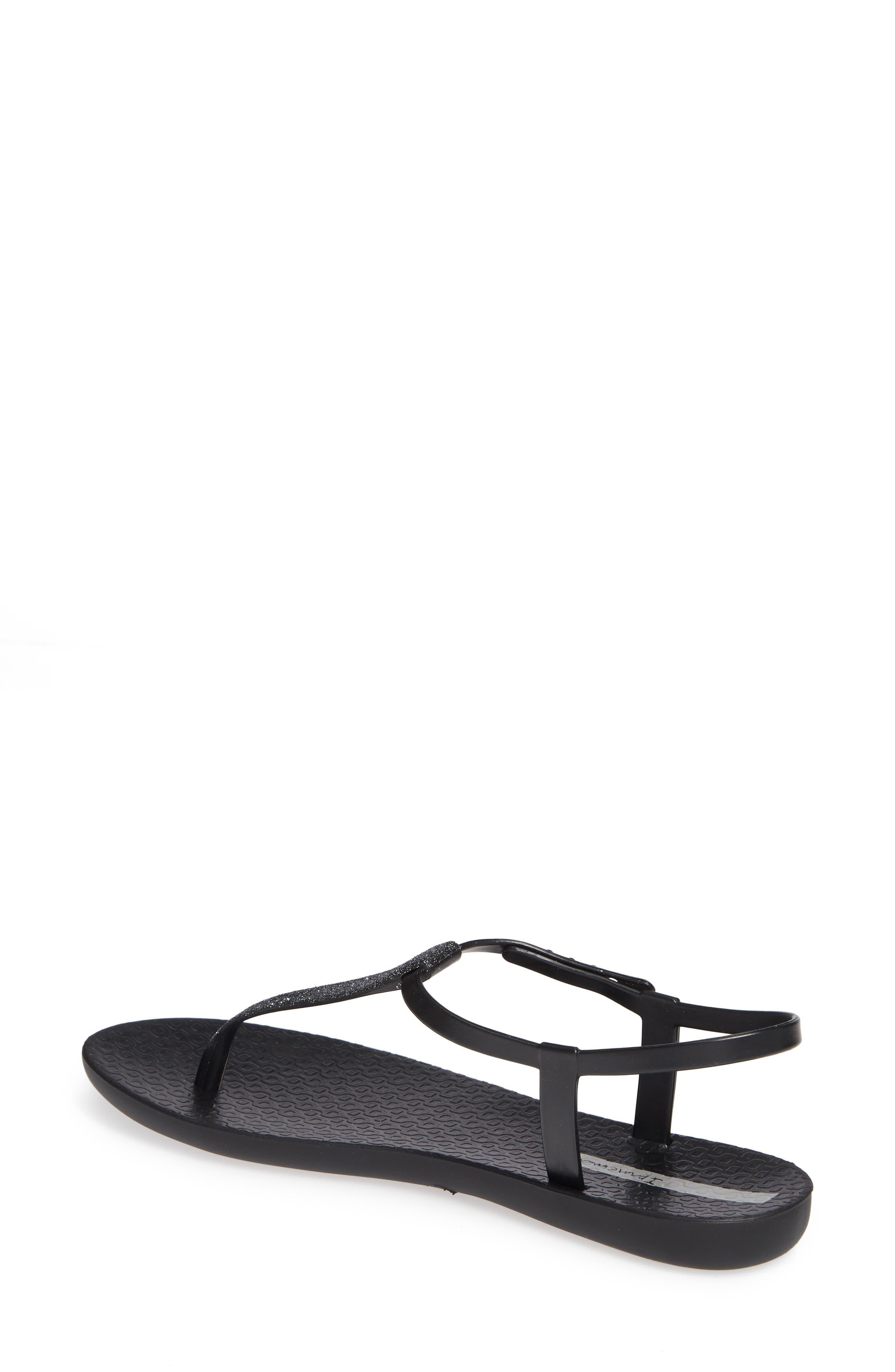 IPANEMA,                             Shimmer Sandal,                             Alternate thumbnail 2, color,                             BLACK/ SILVER