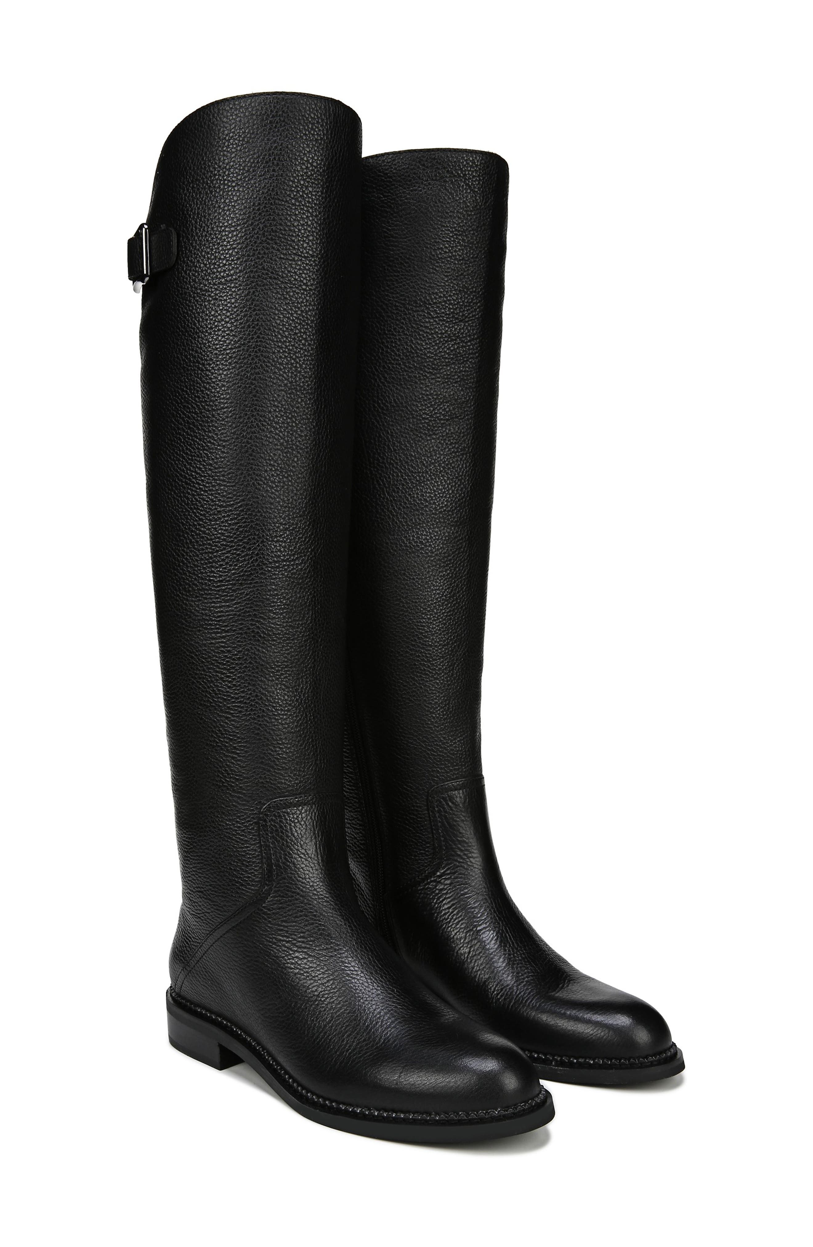 Halloway Knee High Boot,                             Alternate thumbnail 8, color,                             BLACK LEATHER