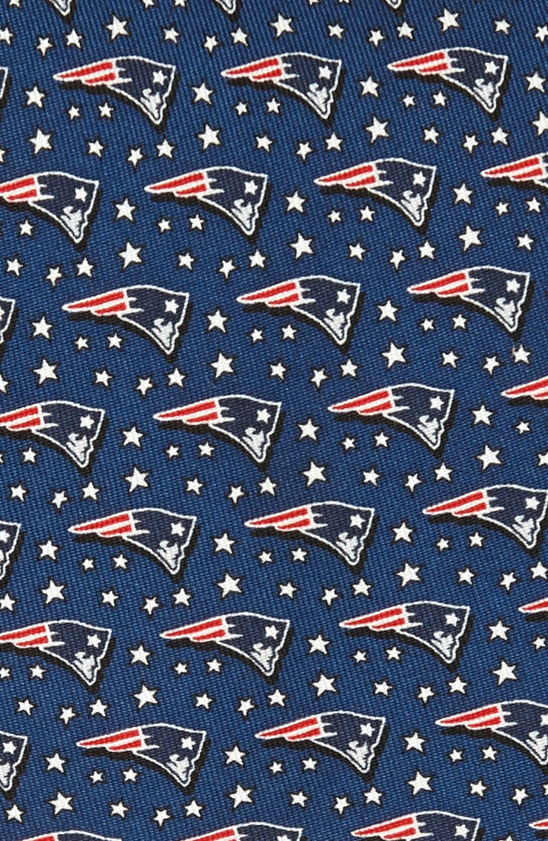 New England Patriots Print Tie,                             Alternate thumbnail 2, color,                             NAVY