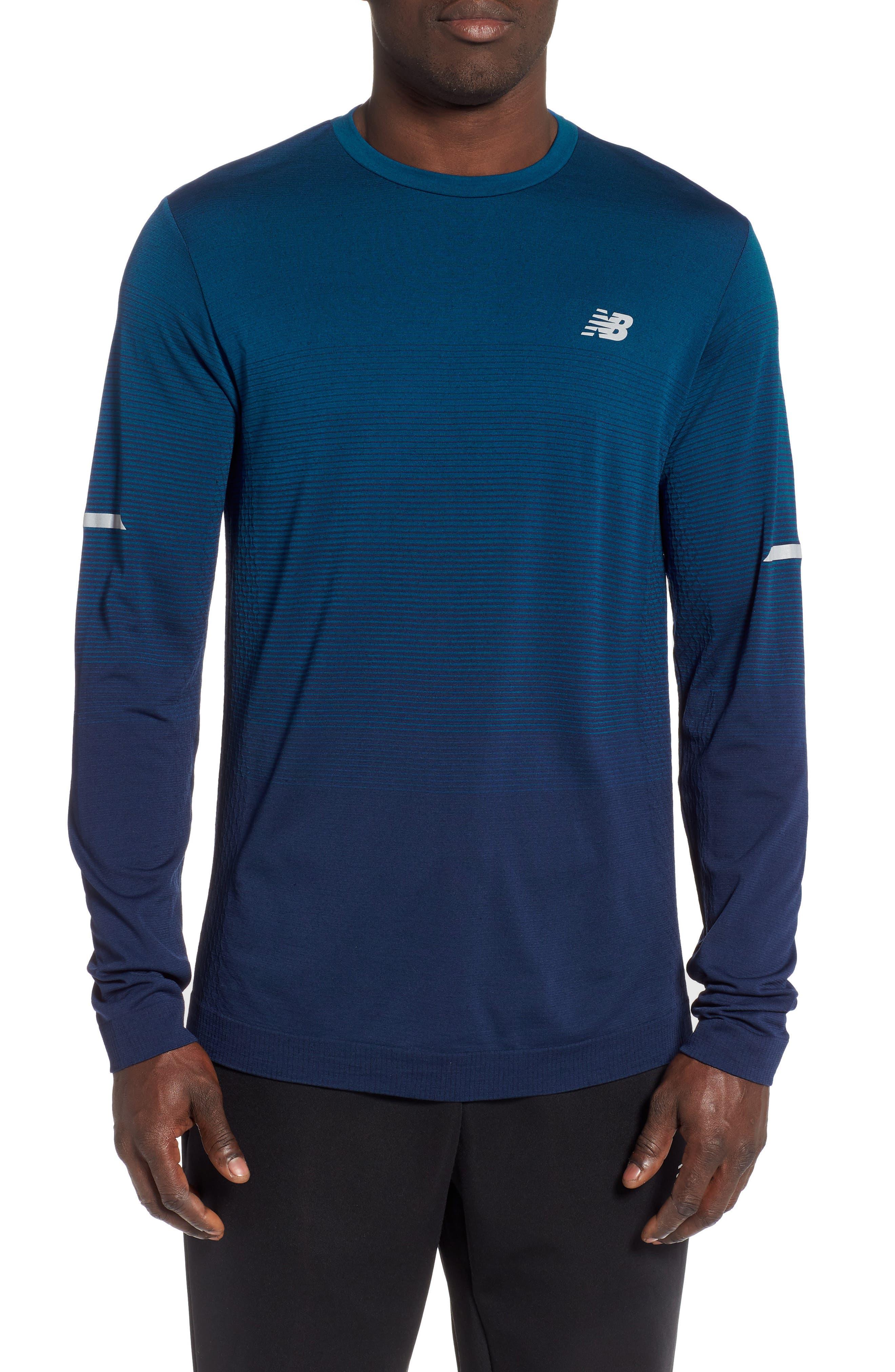 New Balance Ombre Long Sleeve Performance T-Shirt