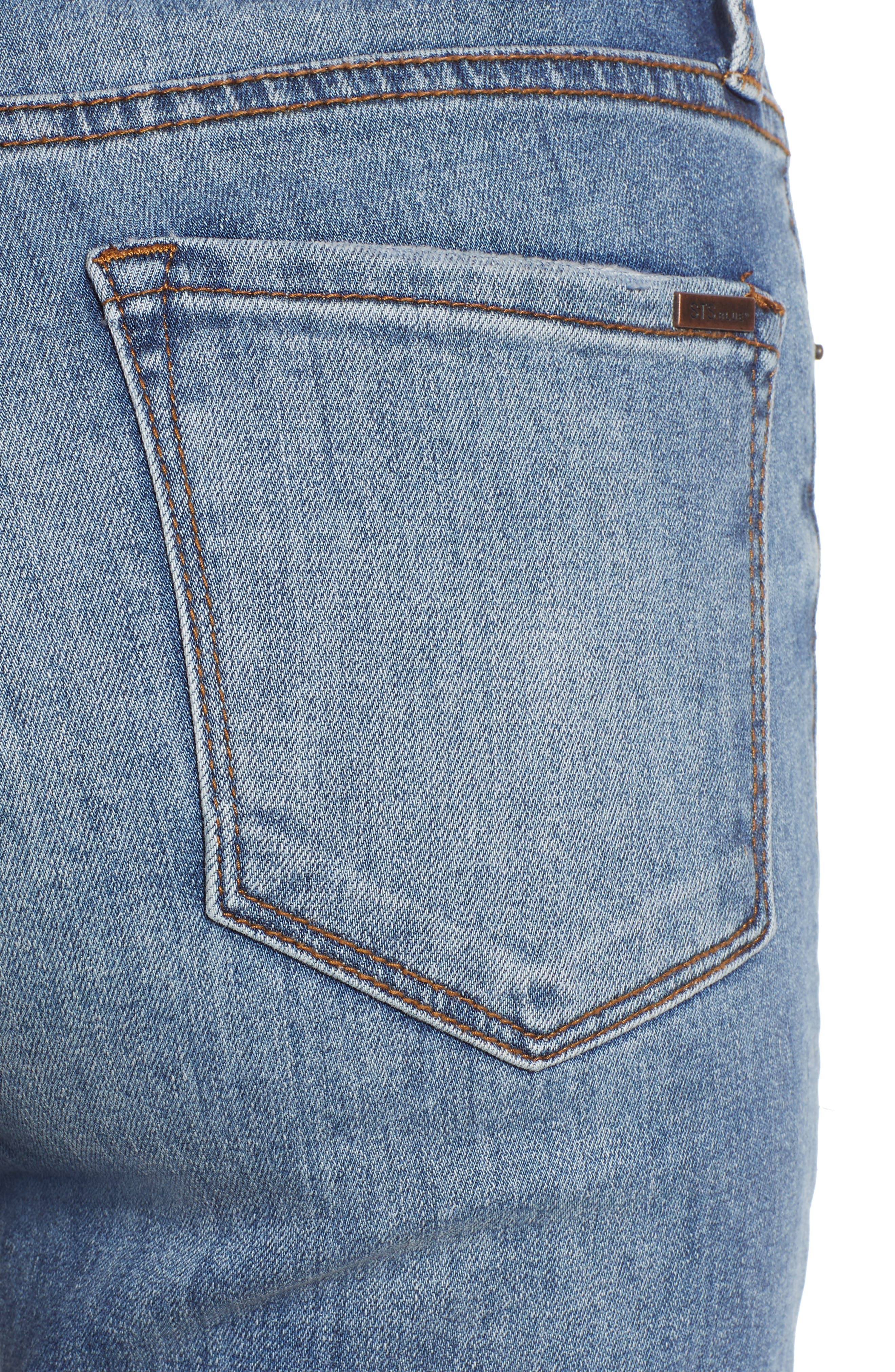 STS Blue Brooke Crop Flare Jeans,                             Alternate thumbnail 4, color,                             TOPAZ