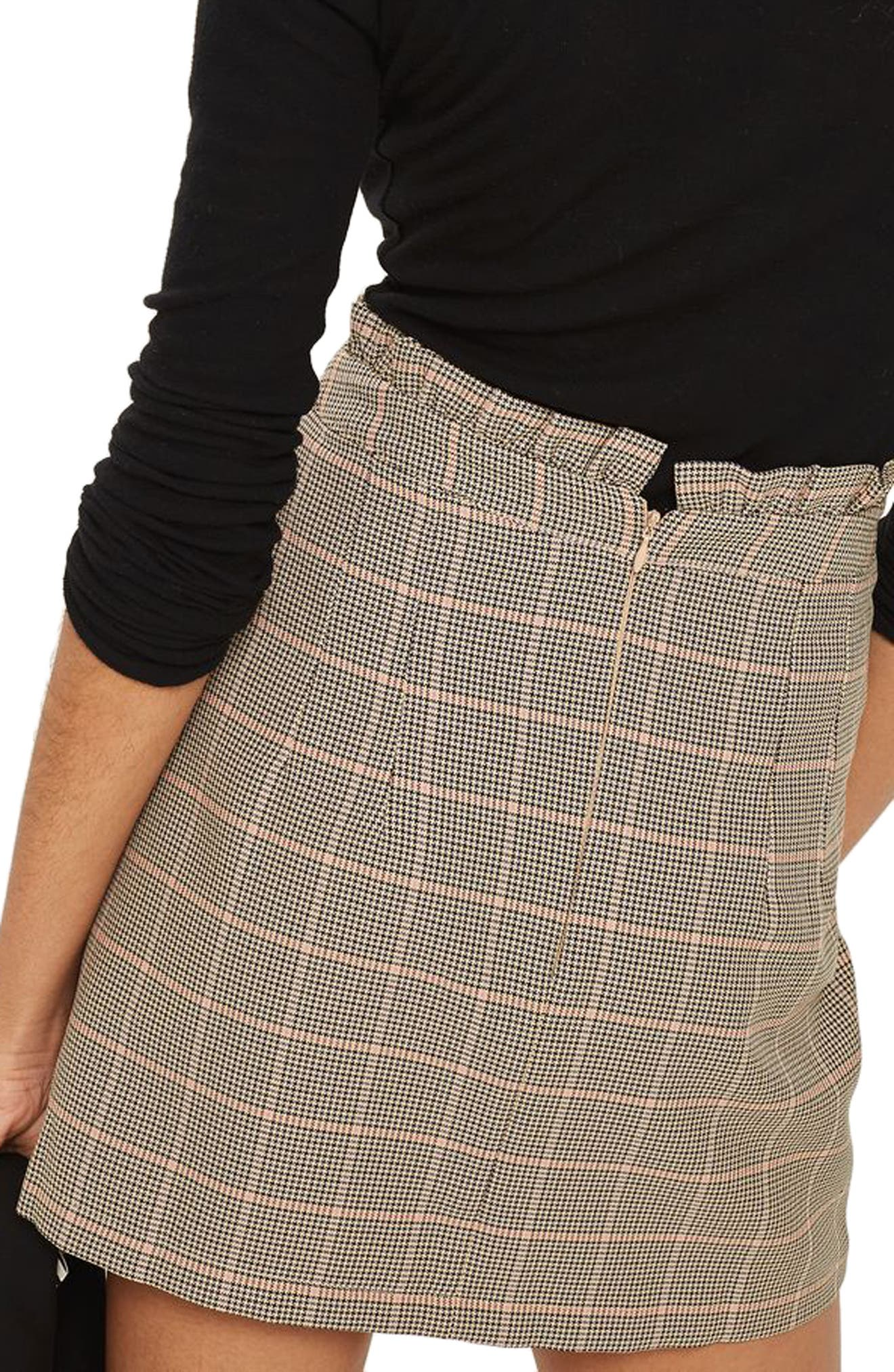 Frill Edge Heritage Check Skirt,                             Alternate thumbnail 2, color,                             230