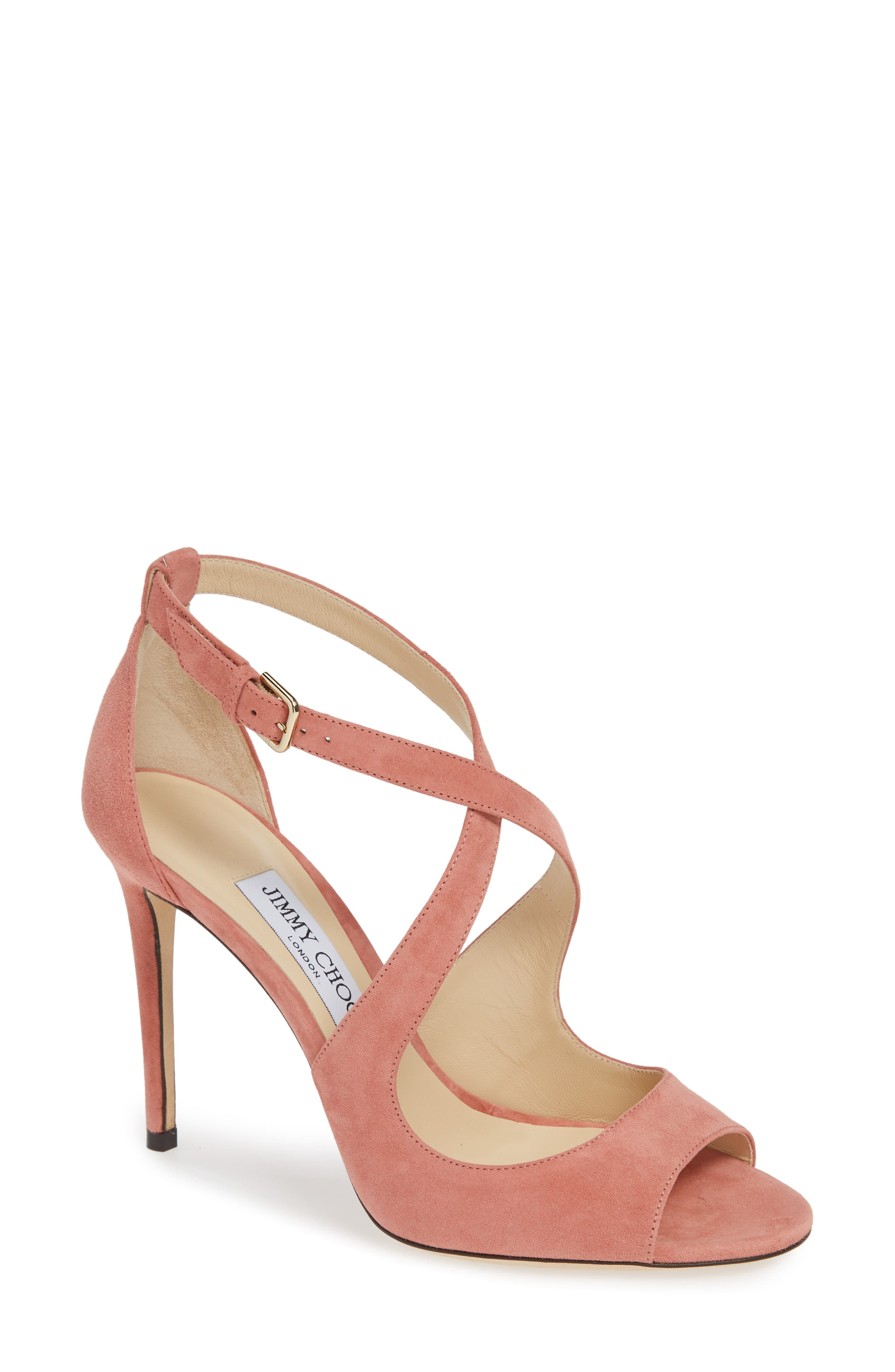 Emily Peep Toe Sandal,                         Main,                         color, ROSEWOOD SUEDE