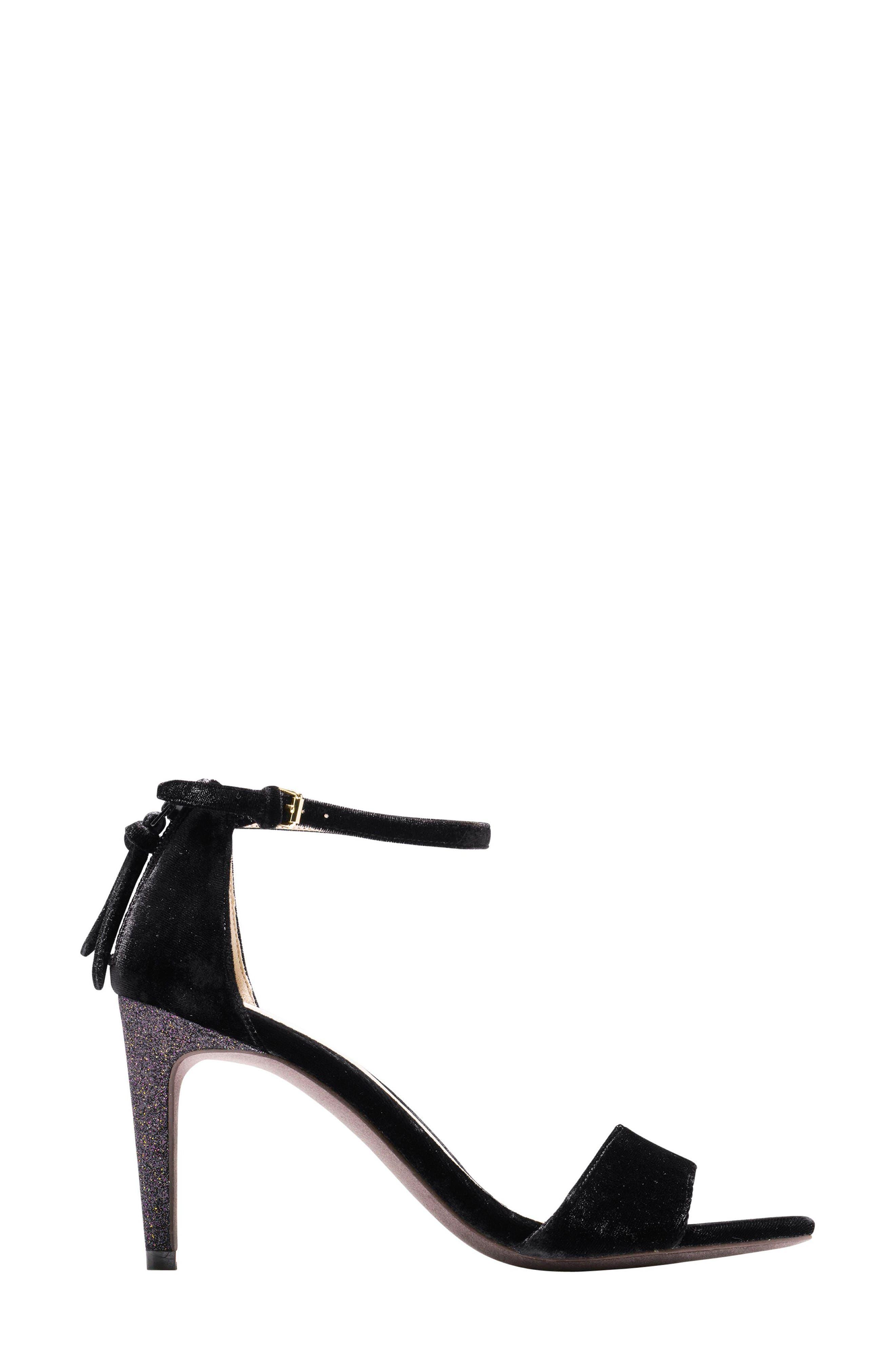 Clara Grand Ankle Strap Sandal,                             Alternate thumbnail 3, color,                             001
