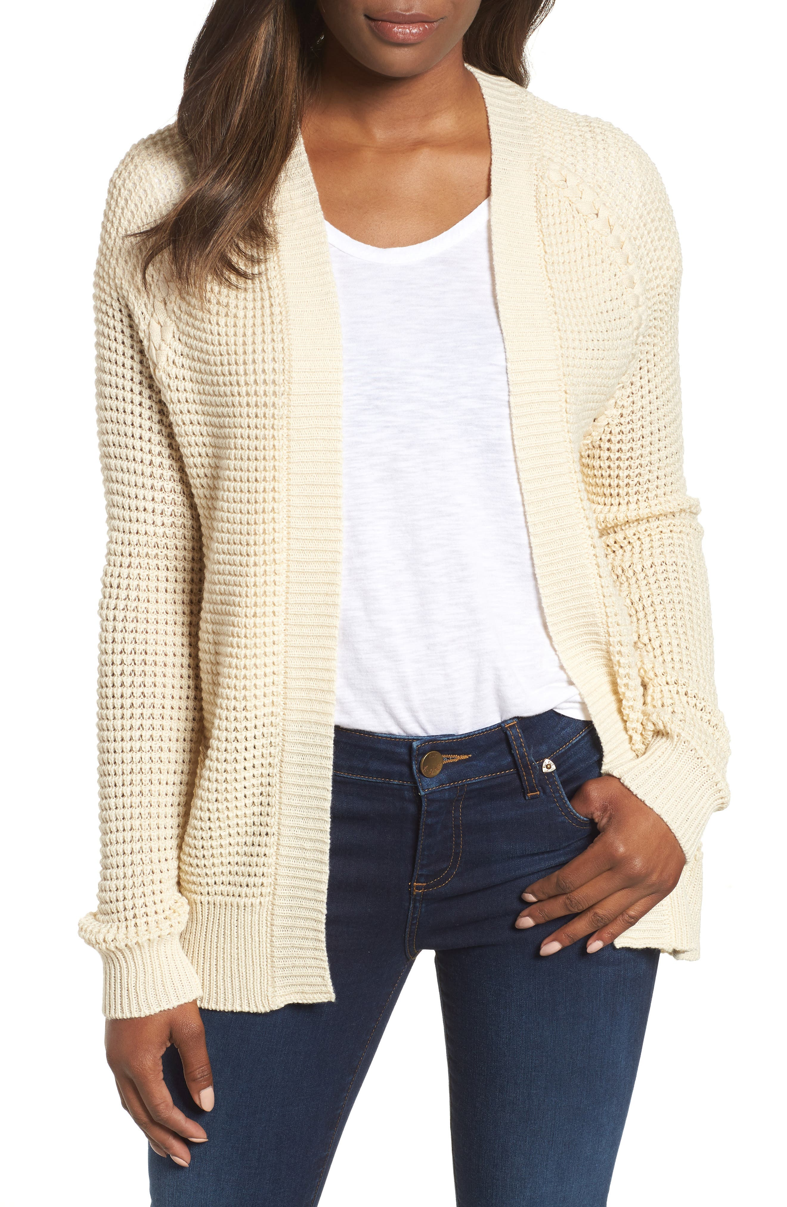 Braided Shoulder Cardigan,                         Main,                         color, 270