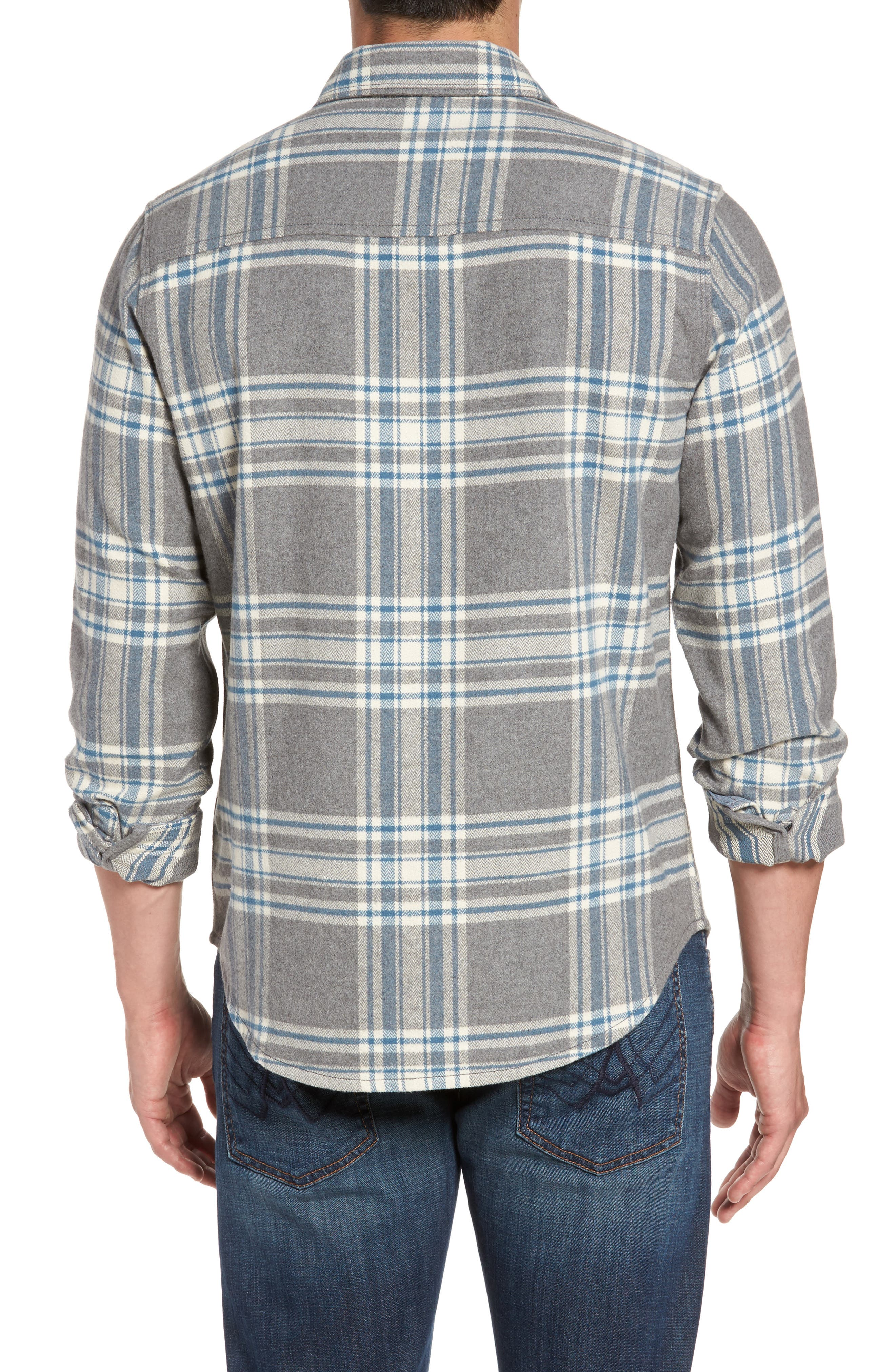 Marin Herringbone Plaid Flannel Shirt,                             Alternate thumbnail 2, color,                             035
