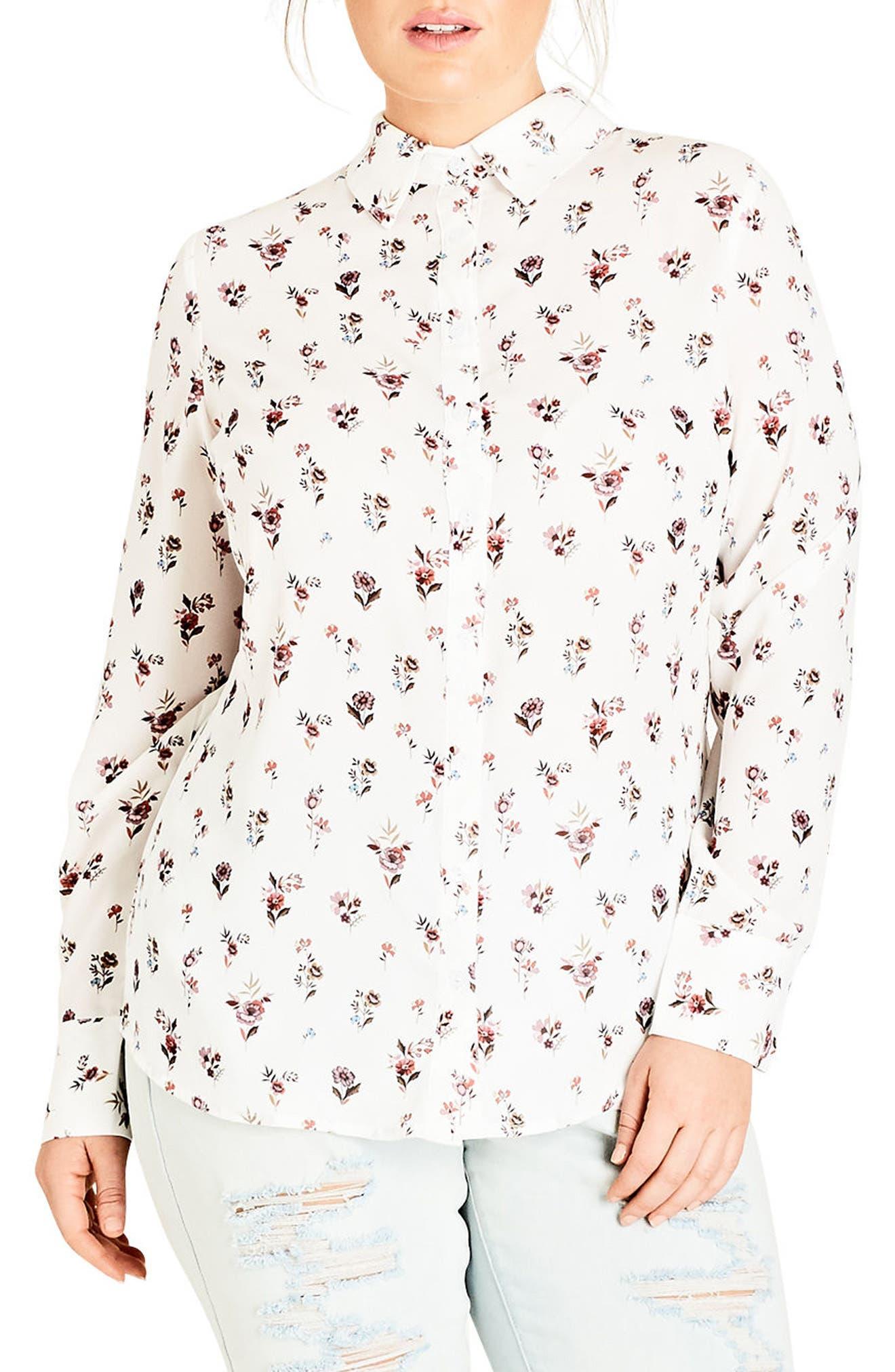 Flower Rain Shirt,                         Main,                         color,