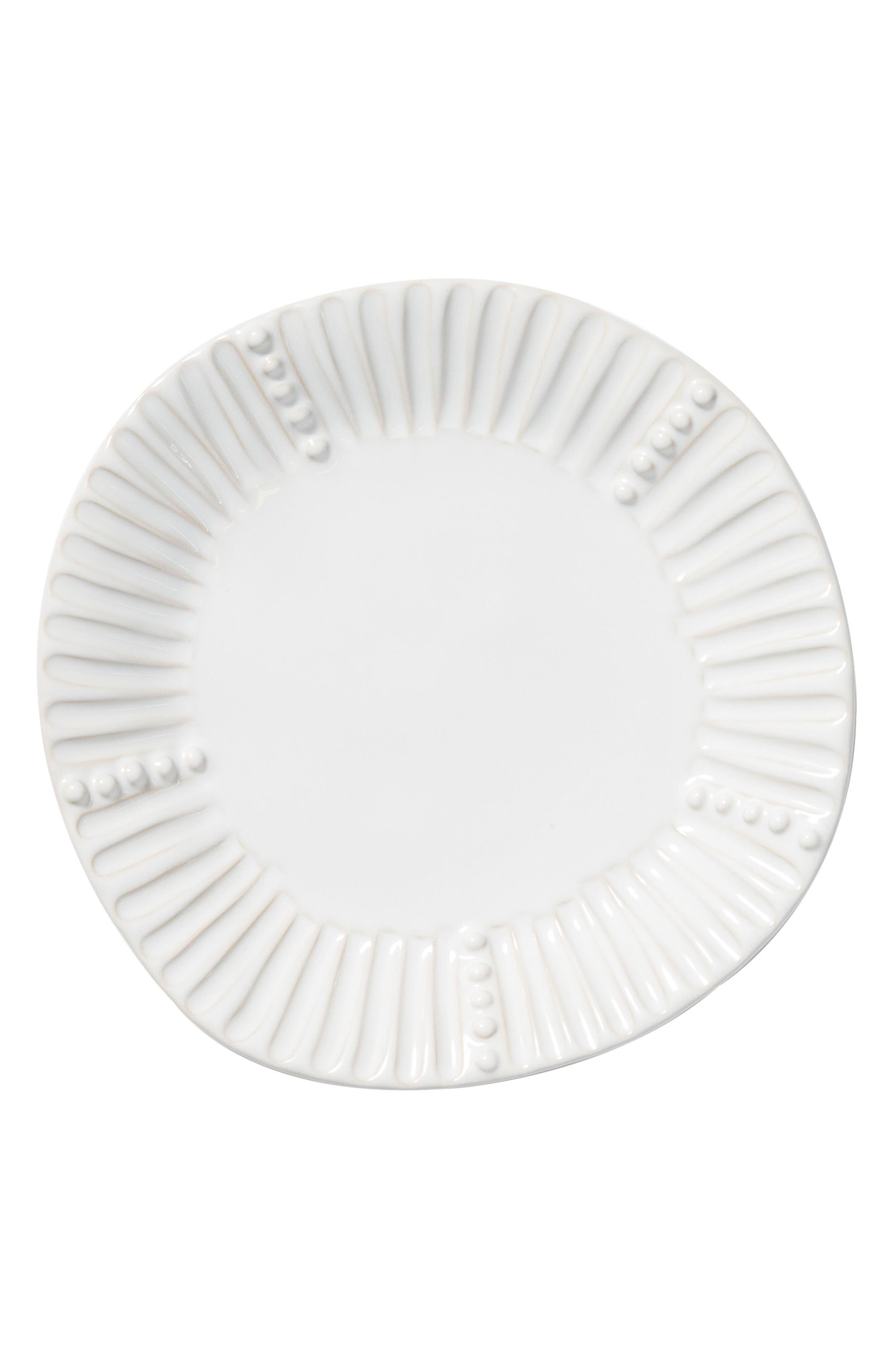 Incanto Stone Stripe Salad Plate,                             Main thumbnail 1, color,                             WHITE