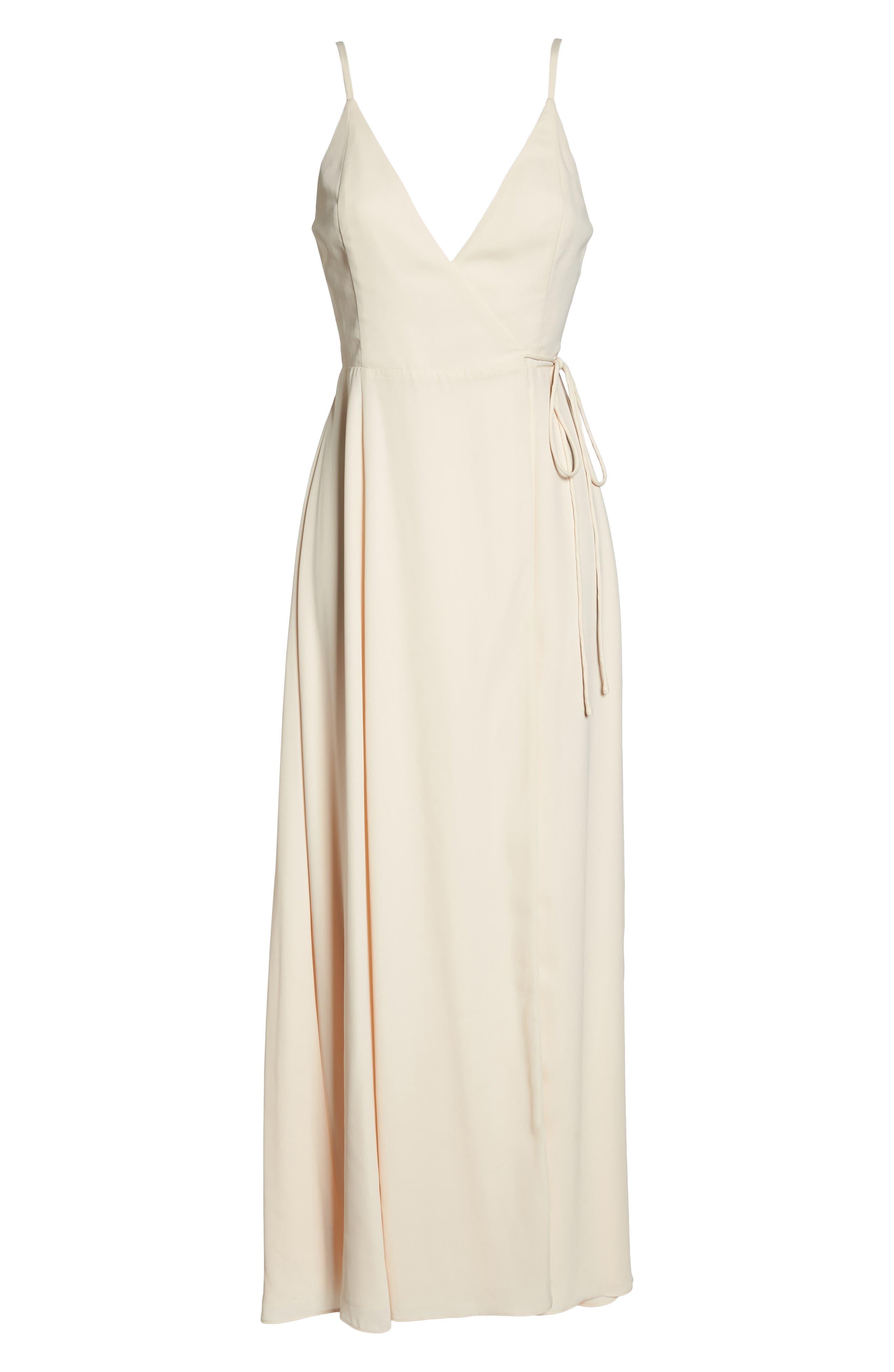 Tilbury Georgette Wrap Maxi Dress,                             Alternate thumbnail 6, color,                             900