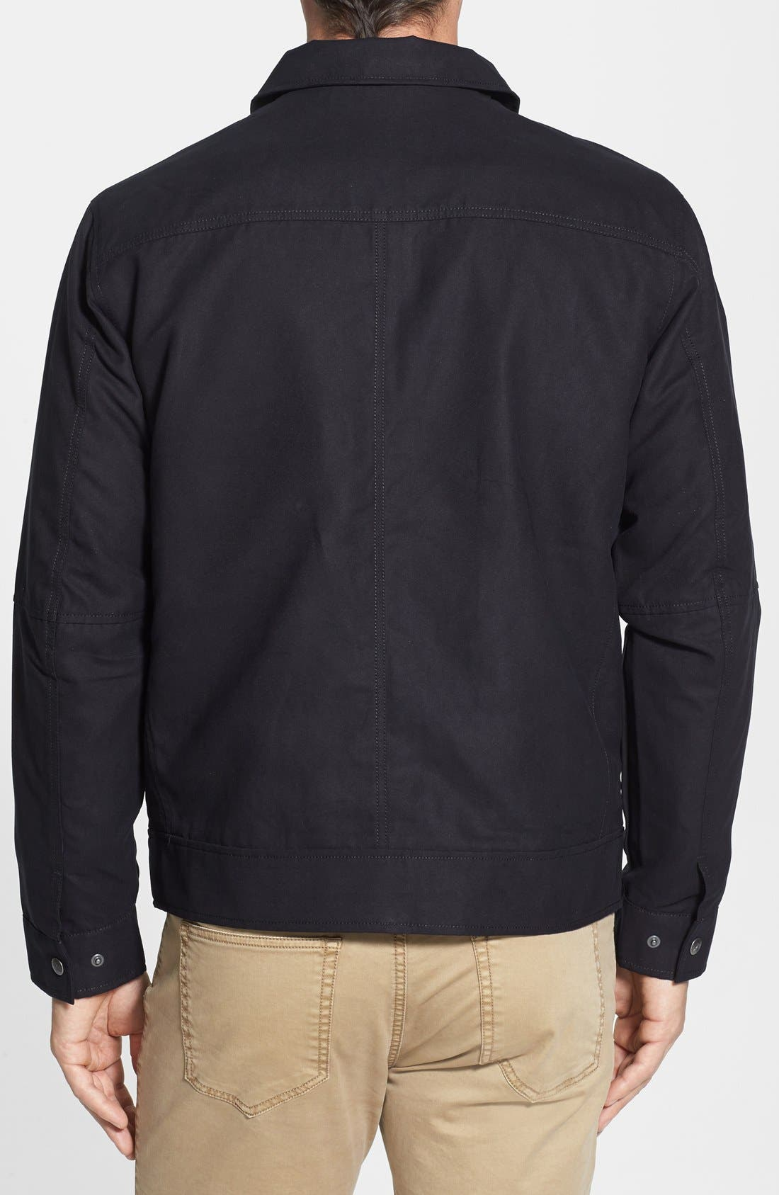 Roosevelt Water Resistant Full Zip Jacket,                             Alternate thumbnail 3, color,                             BLACK