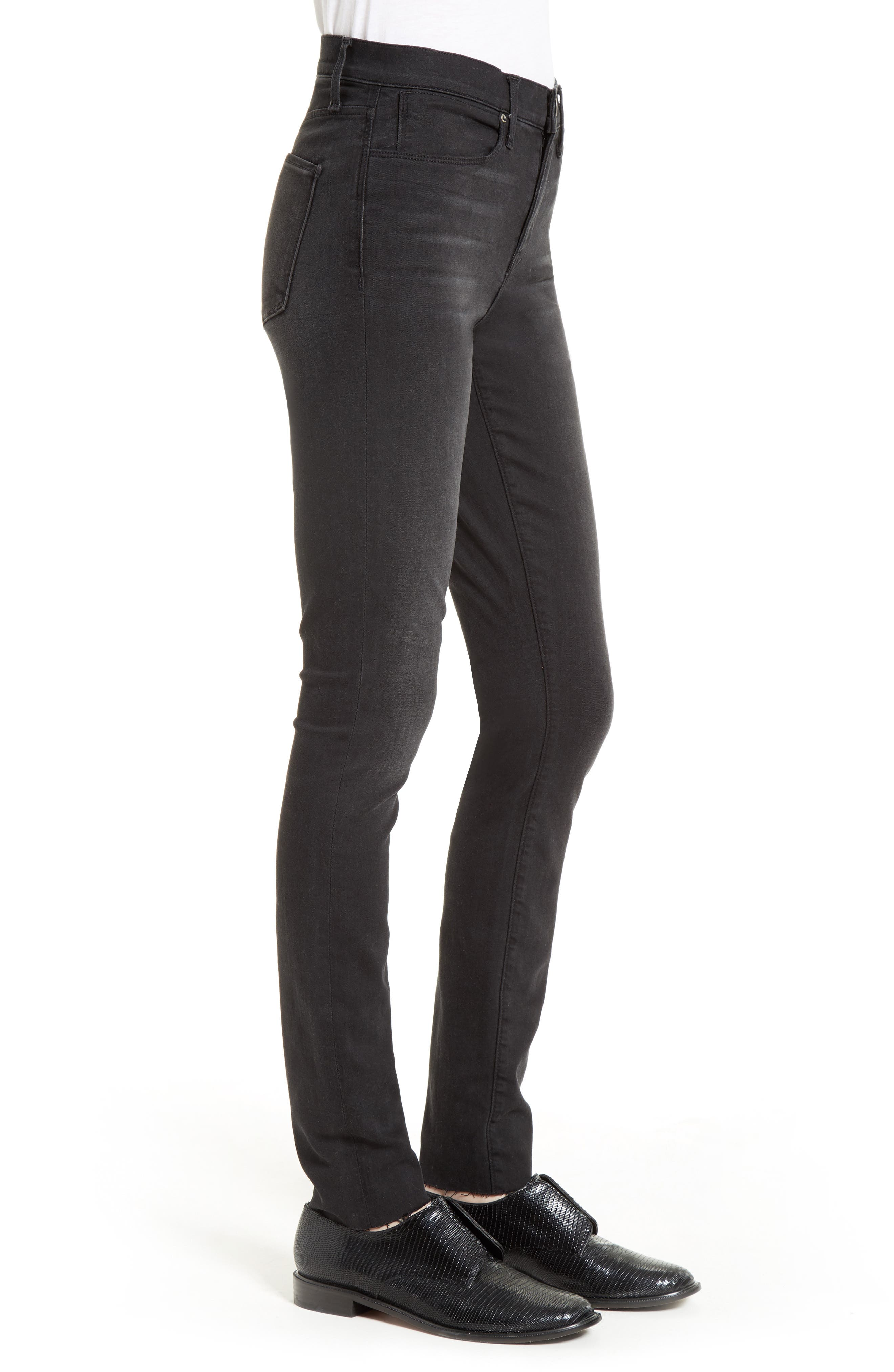 The Skinny Stretch Denim Jeans,                             Alternate thumbnail 3, color,                             001