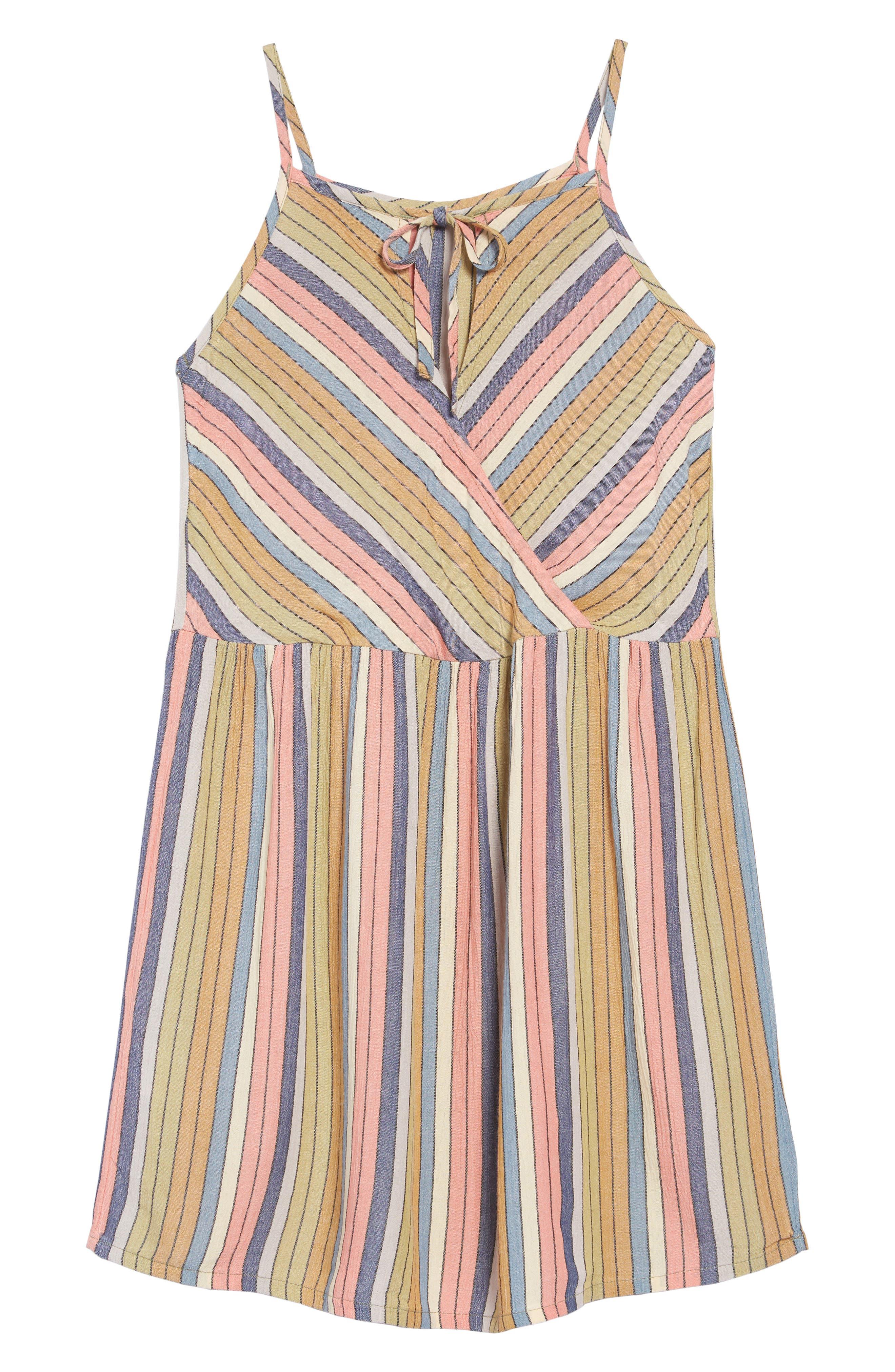 O'NEILL,                             Berlin Stripe Sundress,                             Alternate thumbnail 4, color,                             MULTI COLORED