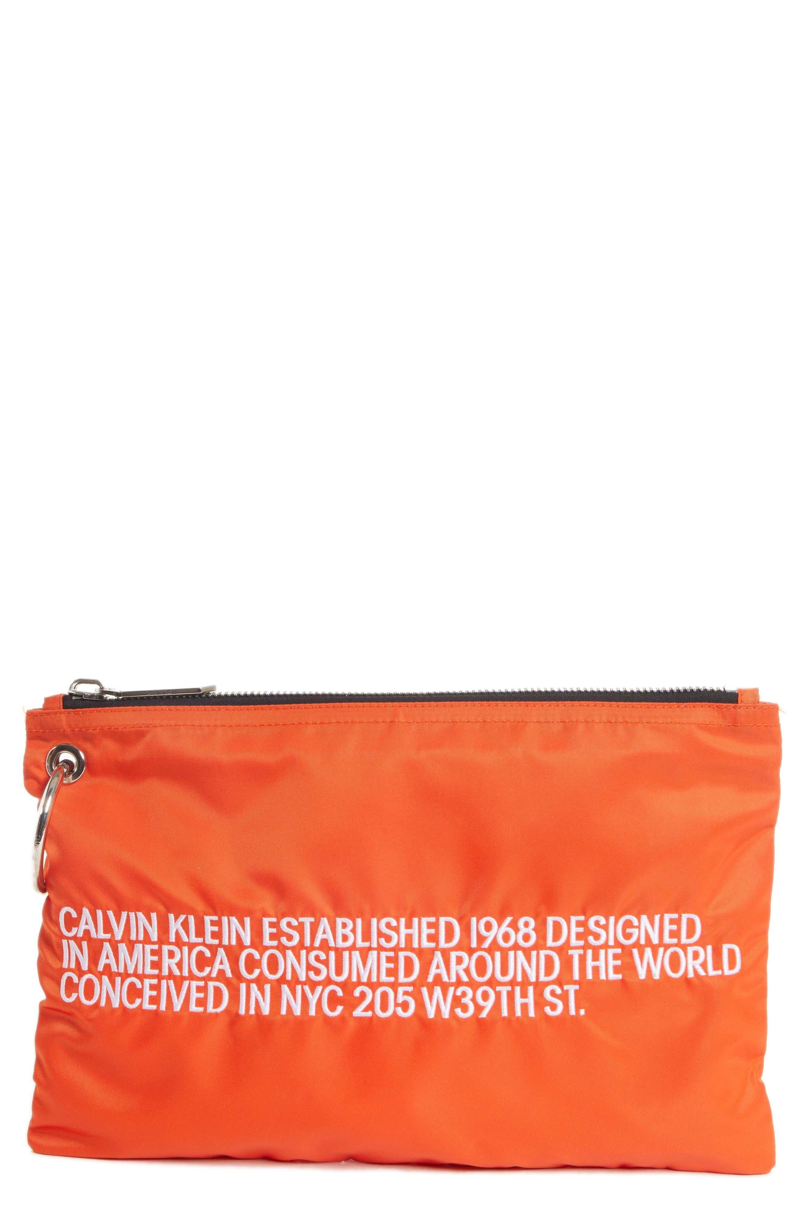 Established Small Zip Pouch,                         Main,                         color, ORANGE