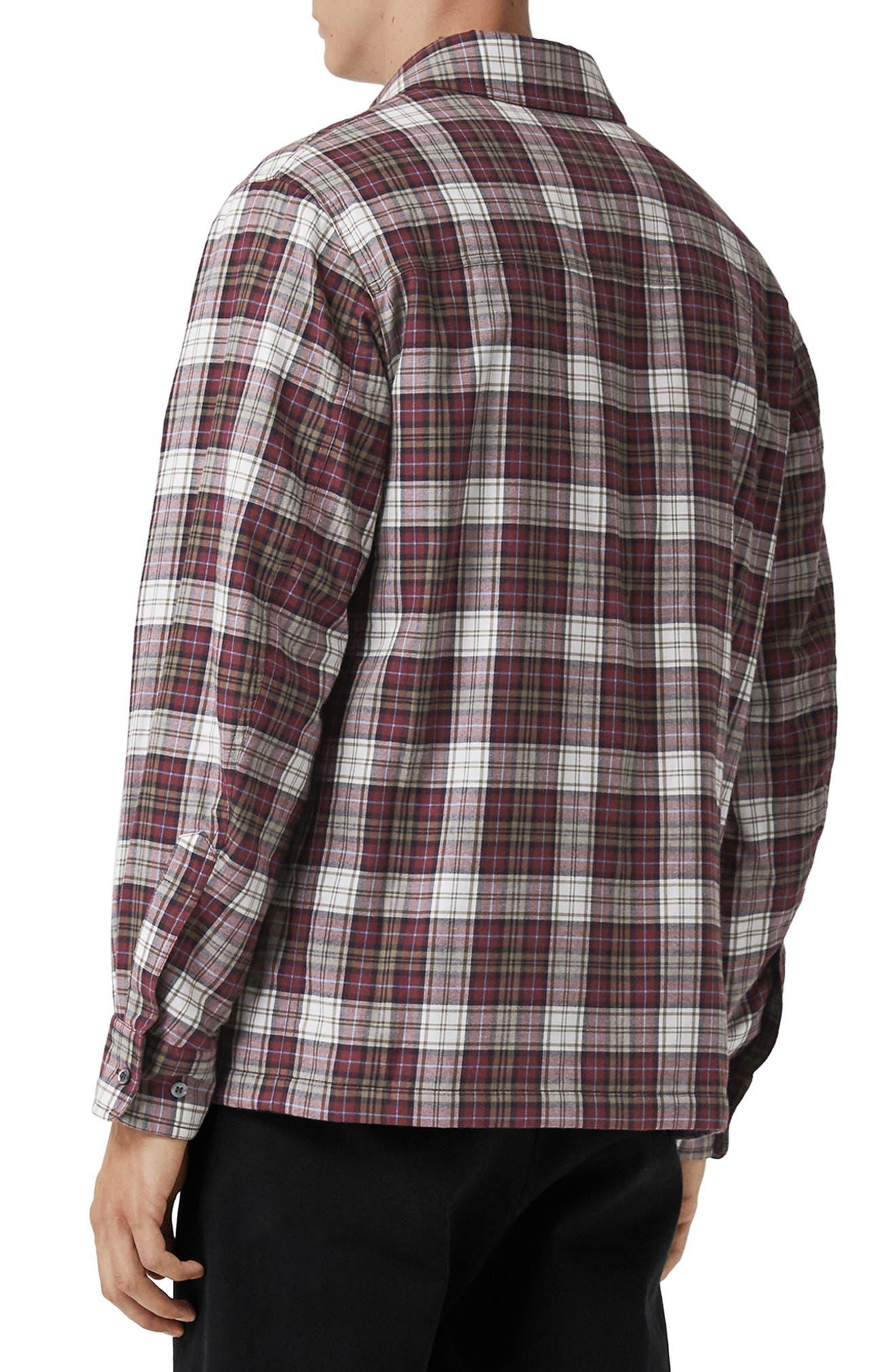 Barlow Plaid Flannel Shirt,                             Alternate thumbnail 4, color,                             600