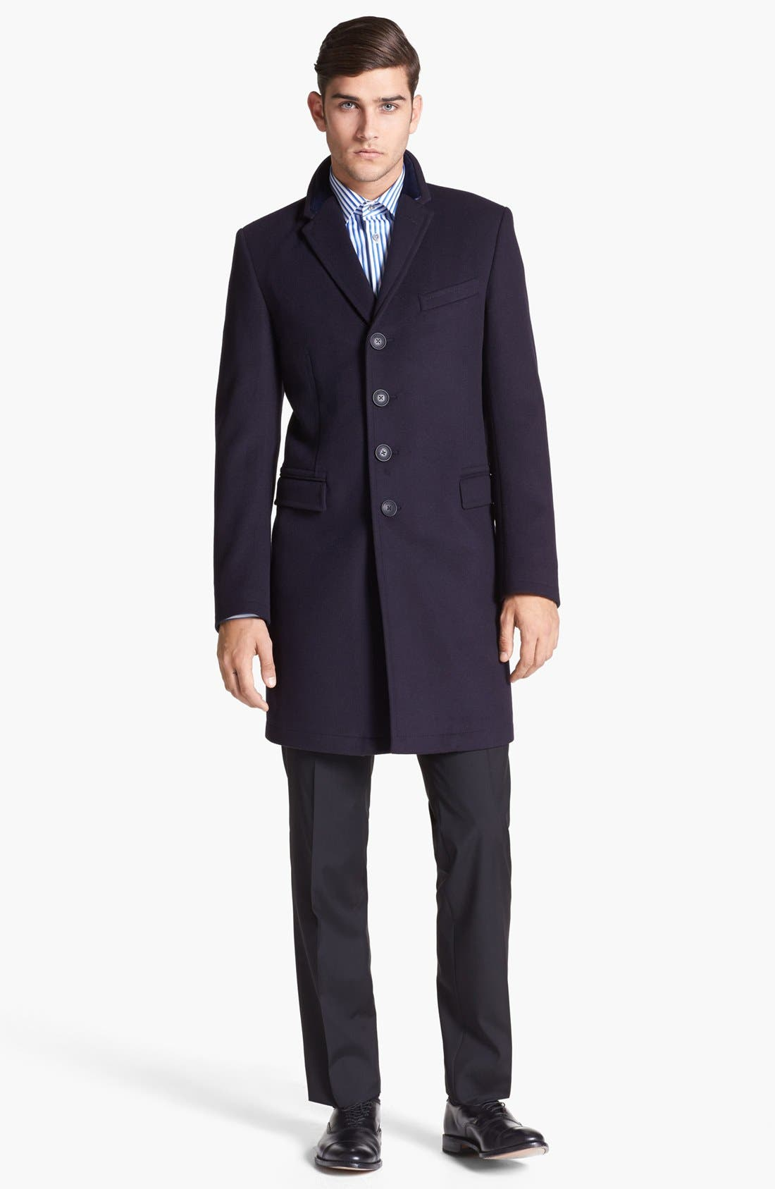Tailored Wool Topcoat,                             Alternate thumbnail 5, color,                             414