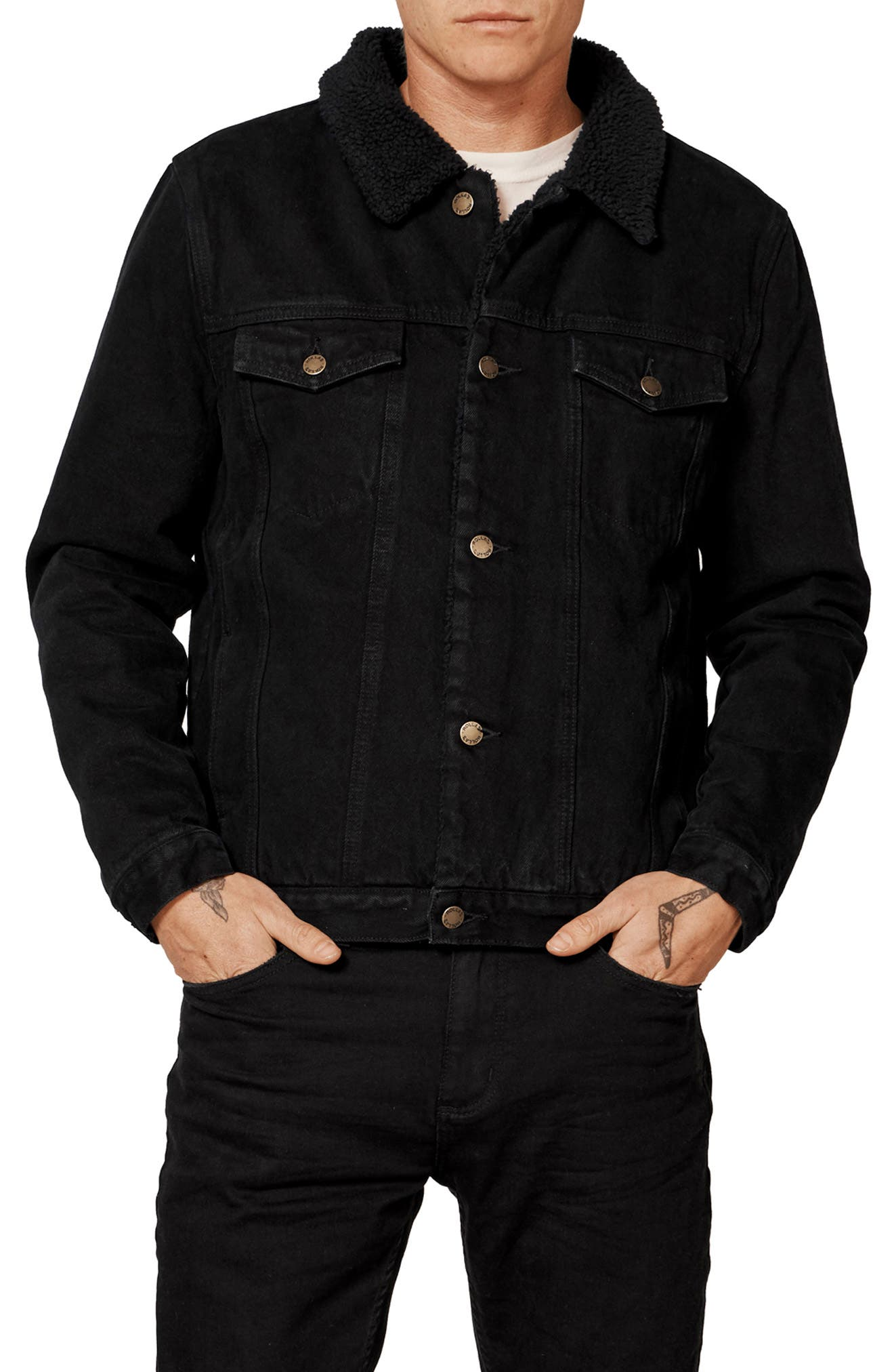 ROLLA'S,                             Lined Denim Jacket,                             Main thumbnail 1, color,                             002
