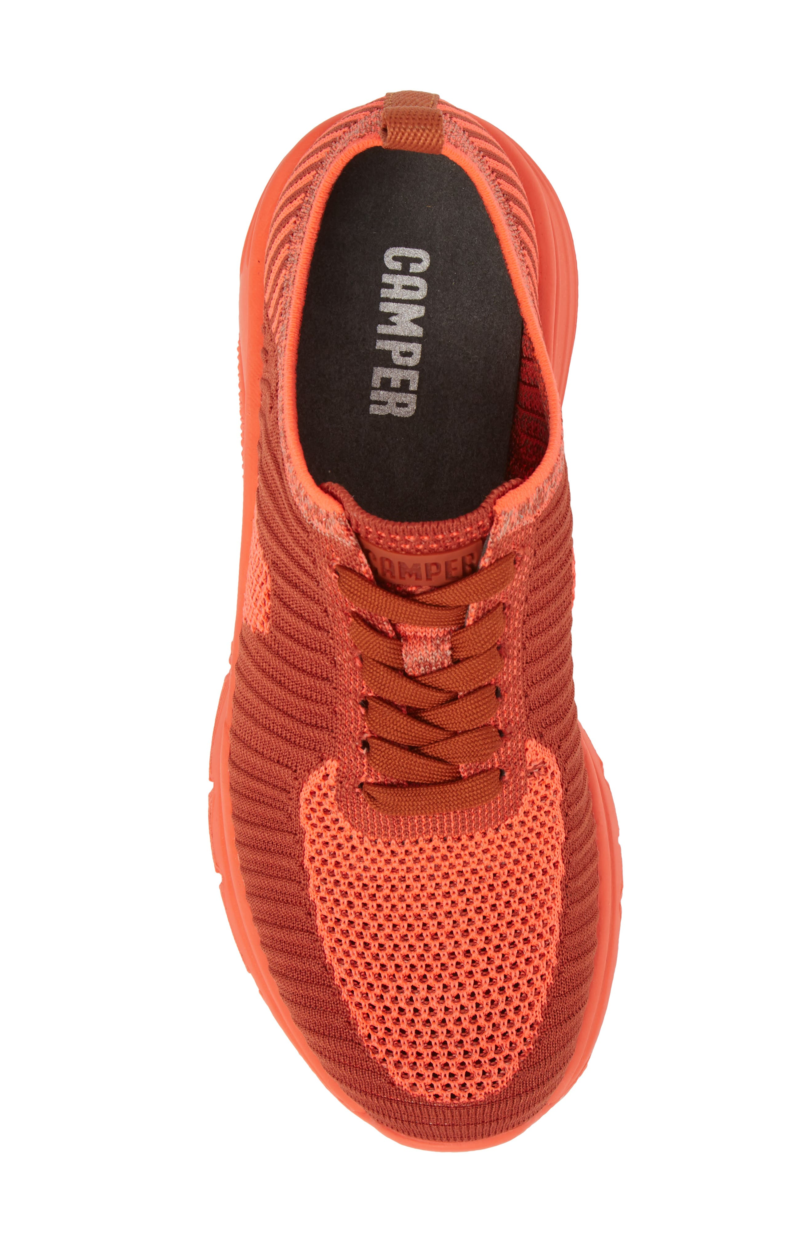 Drift Knit Sneaker,                             Alternate thumbnail 5, color,                             RED - ASSORTED FABRIC