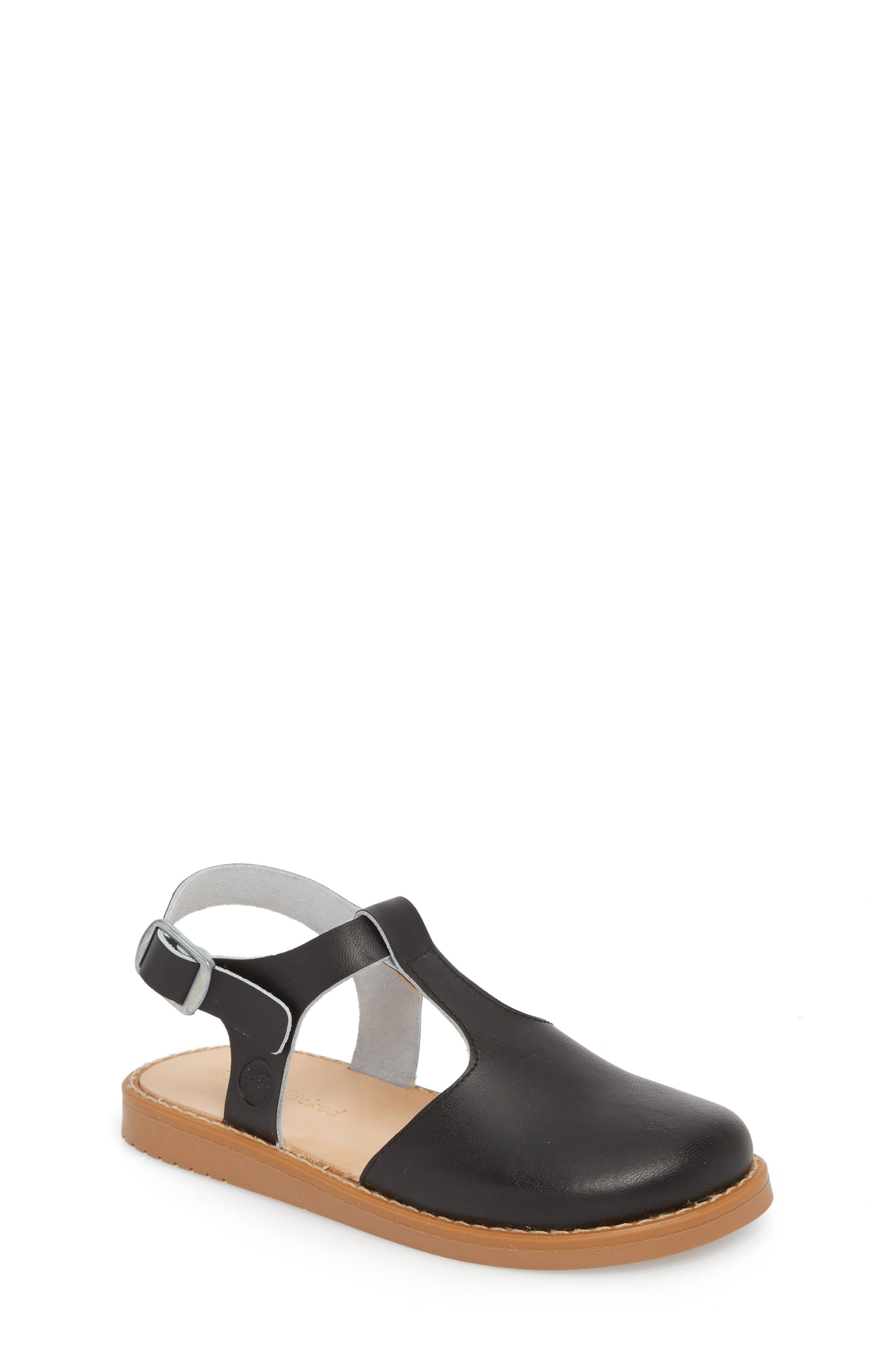 Newport Clog Sandal,                             Main thumbnail 1, color,                             BLACK