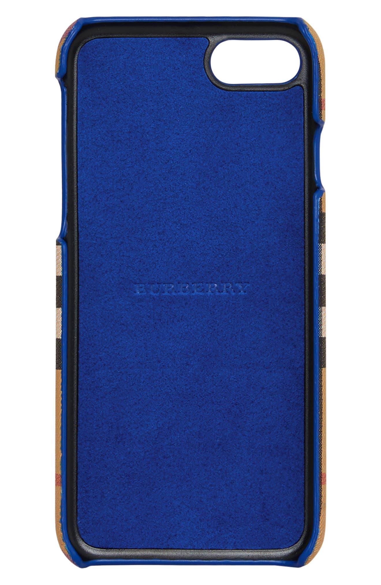 Vintage Check Rainbow iPhone 8 Case,                             Alternate thumbnail 3, color,                             250