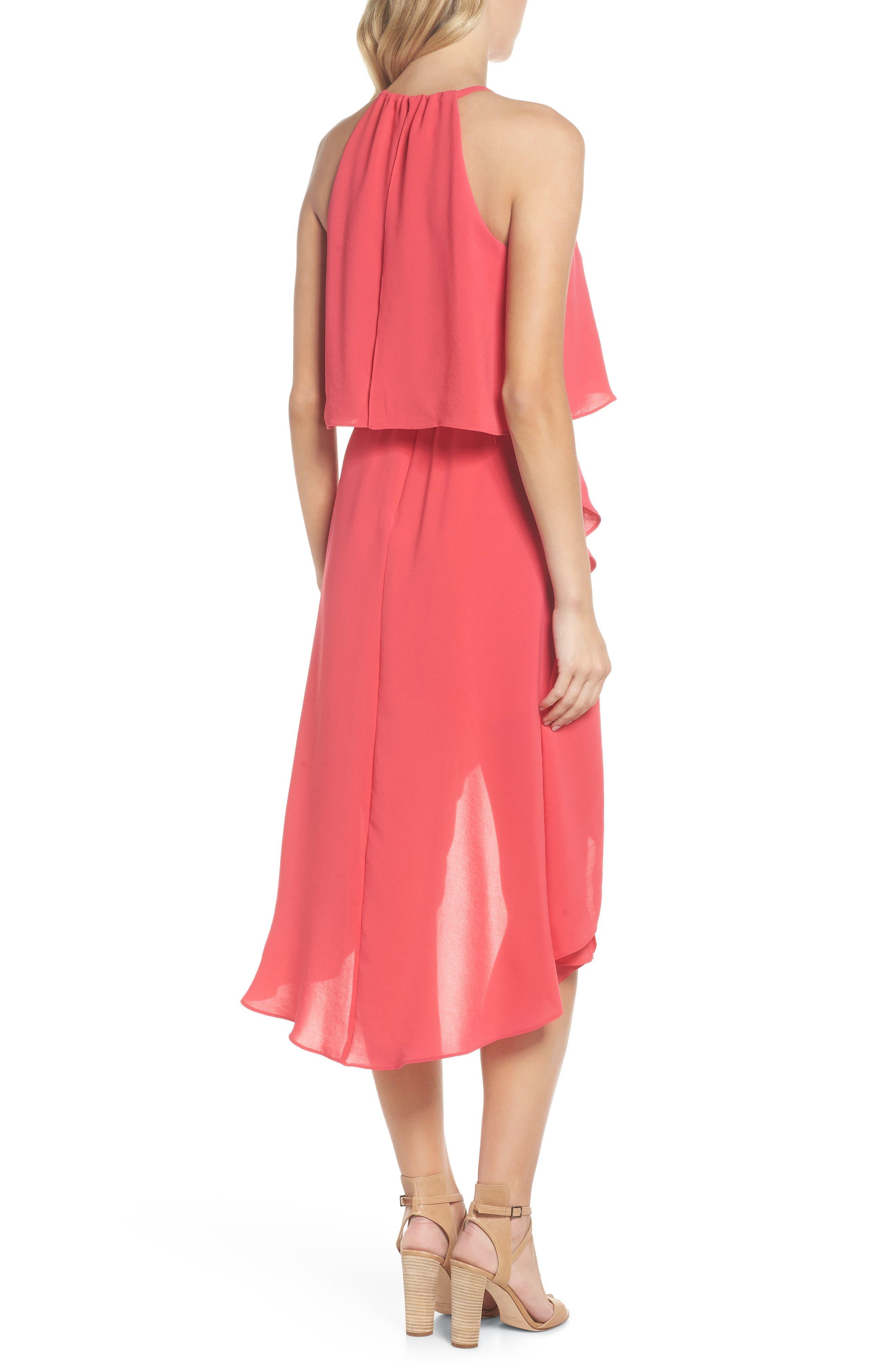 Crepe Popover High/Low Dress,                             Alternate thumbnail 2, color,                             654
