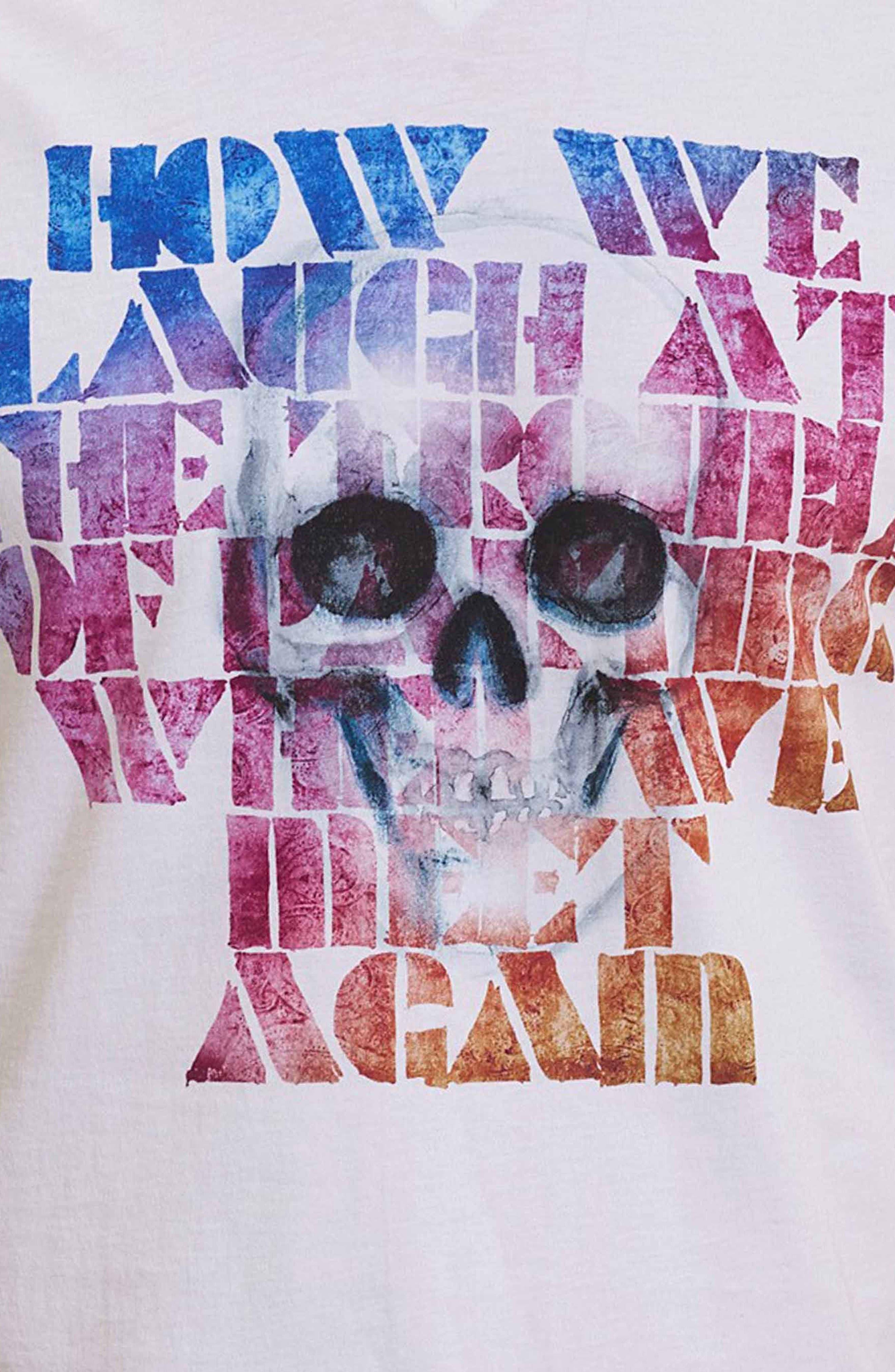 How We Laugh T-Shirt,                             Alternate thumbnail 3, color,                             100