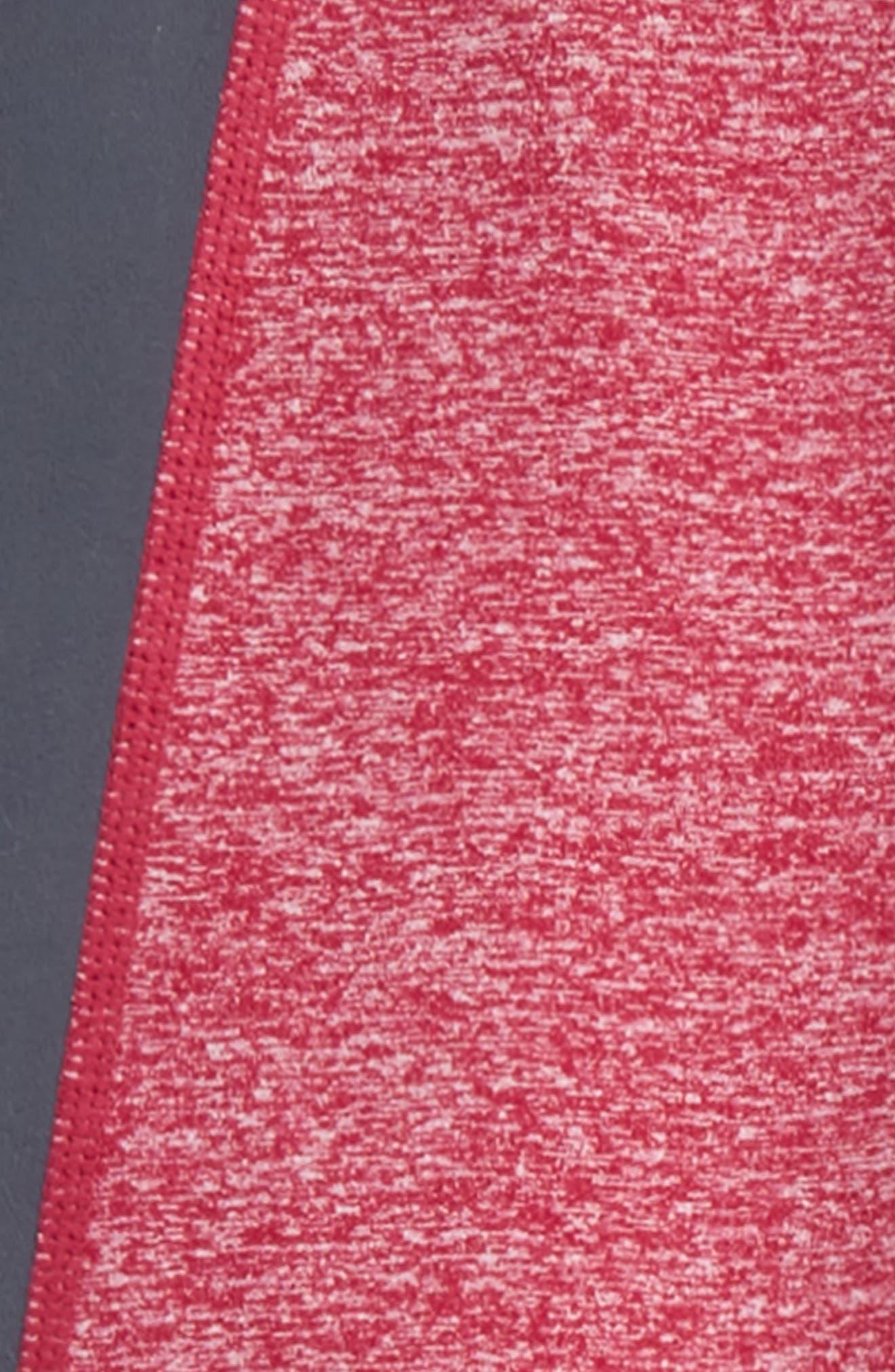 High Waist Cutout Leggings,                             Alternate thumbnail 2, color,                             BURGUNDY PUNCH- GREY