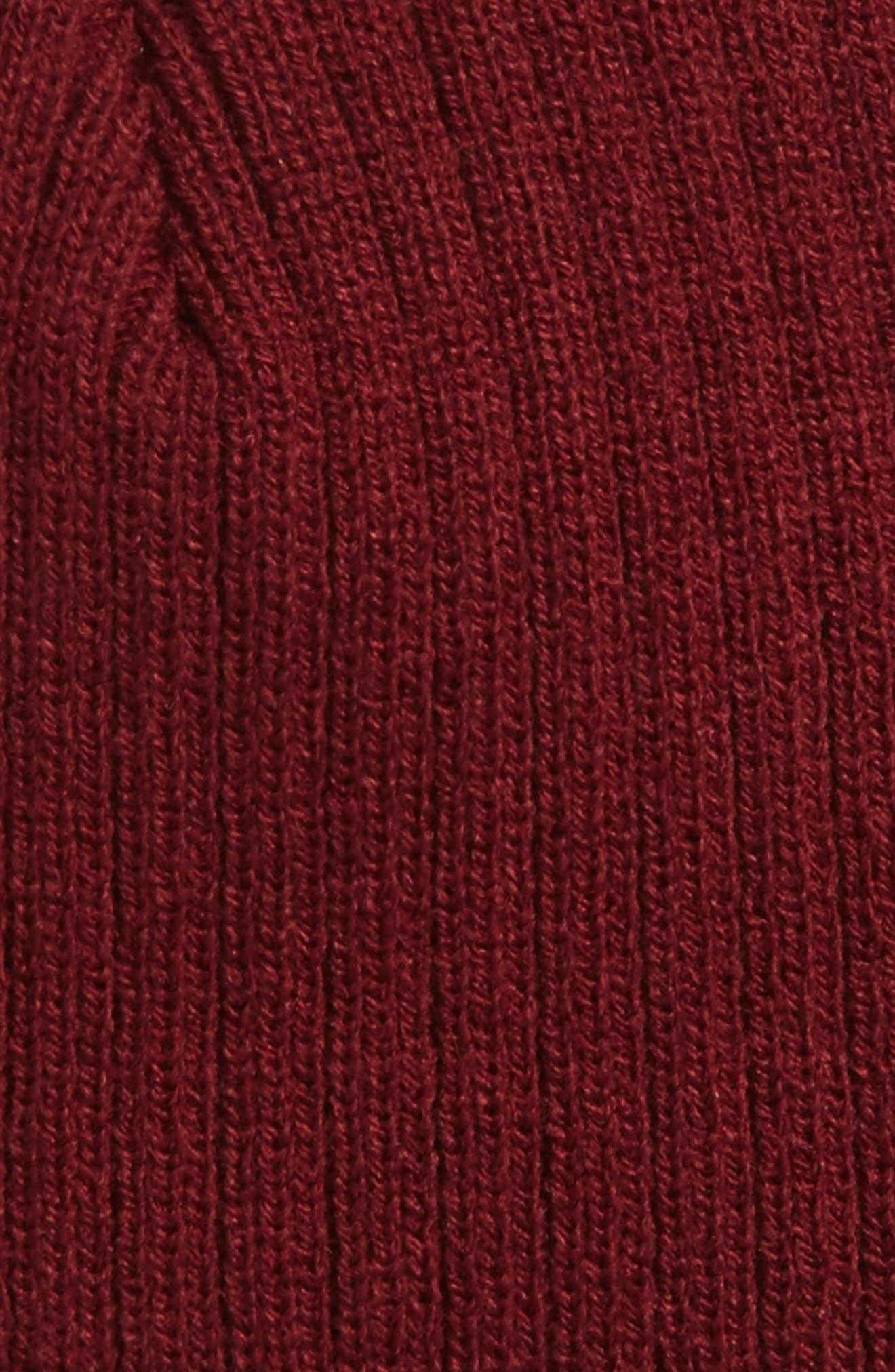 Wide Rib Knit Beanie,                             Alternate thumbnail 7, color,