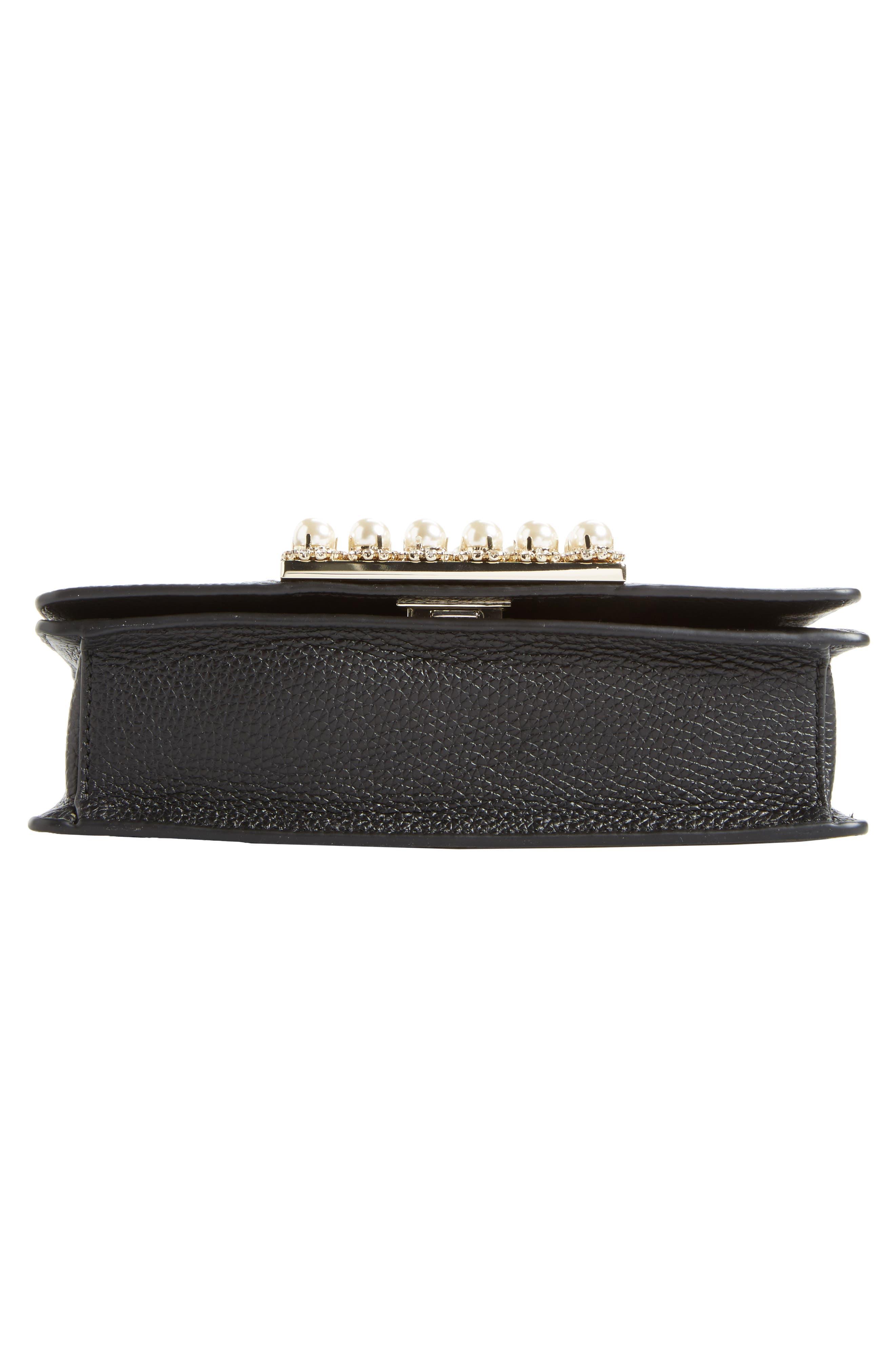 madison knollwood drive - buckle marci leather shoulder bag,                             Alternate thumbnail 6, color,                             001