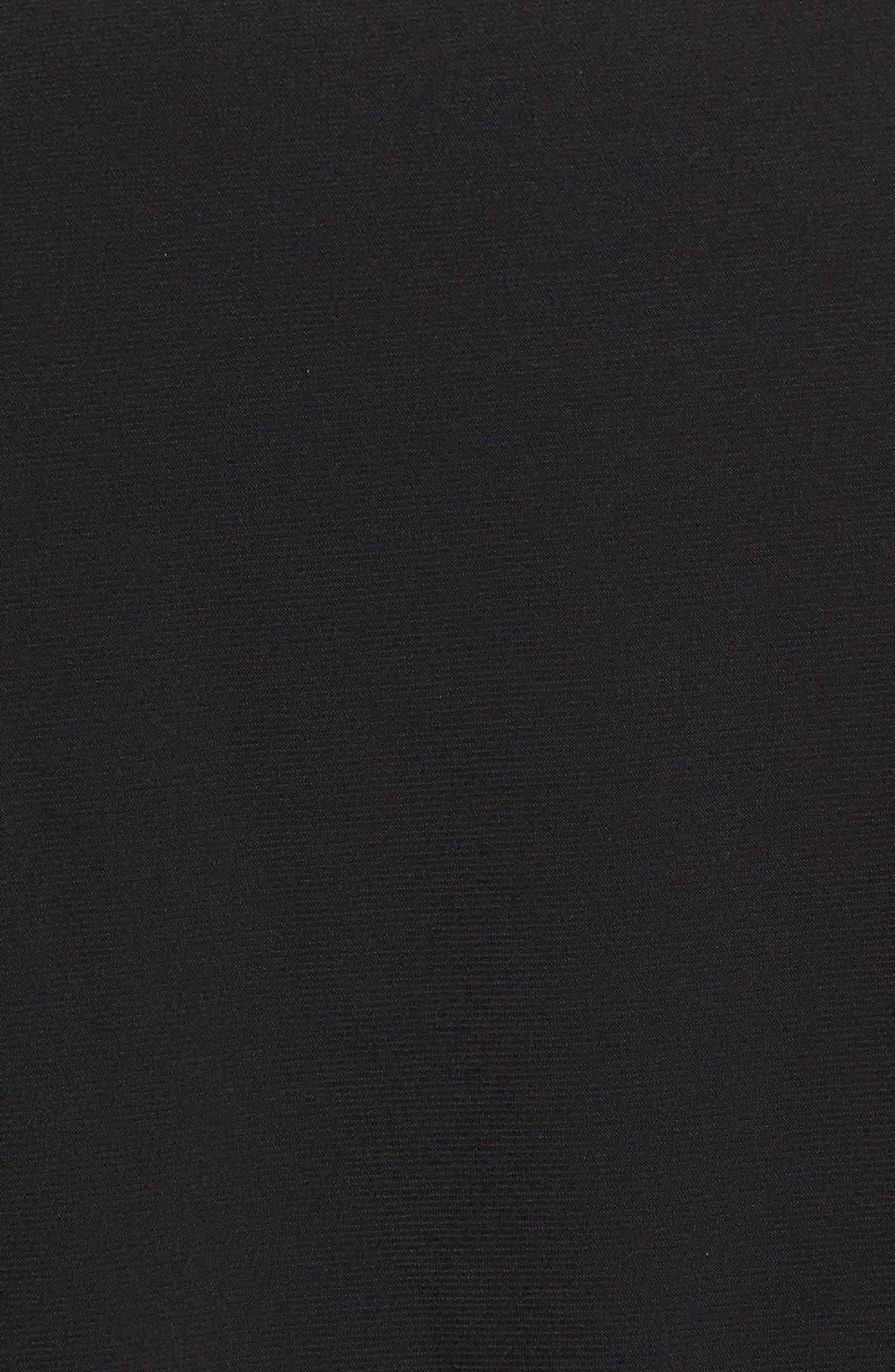 Matte Jersey Capelet Jumpsuit,                             Alternate thumbnail 5, color,                             002