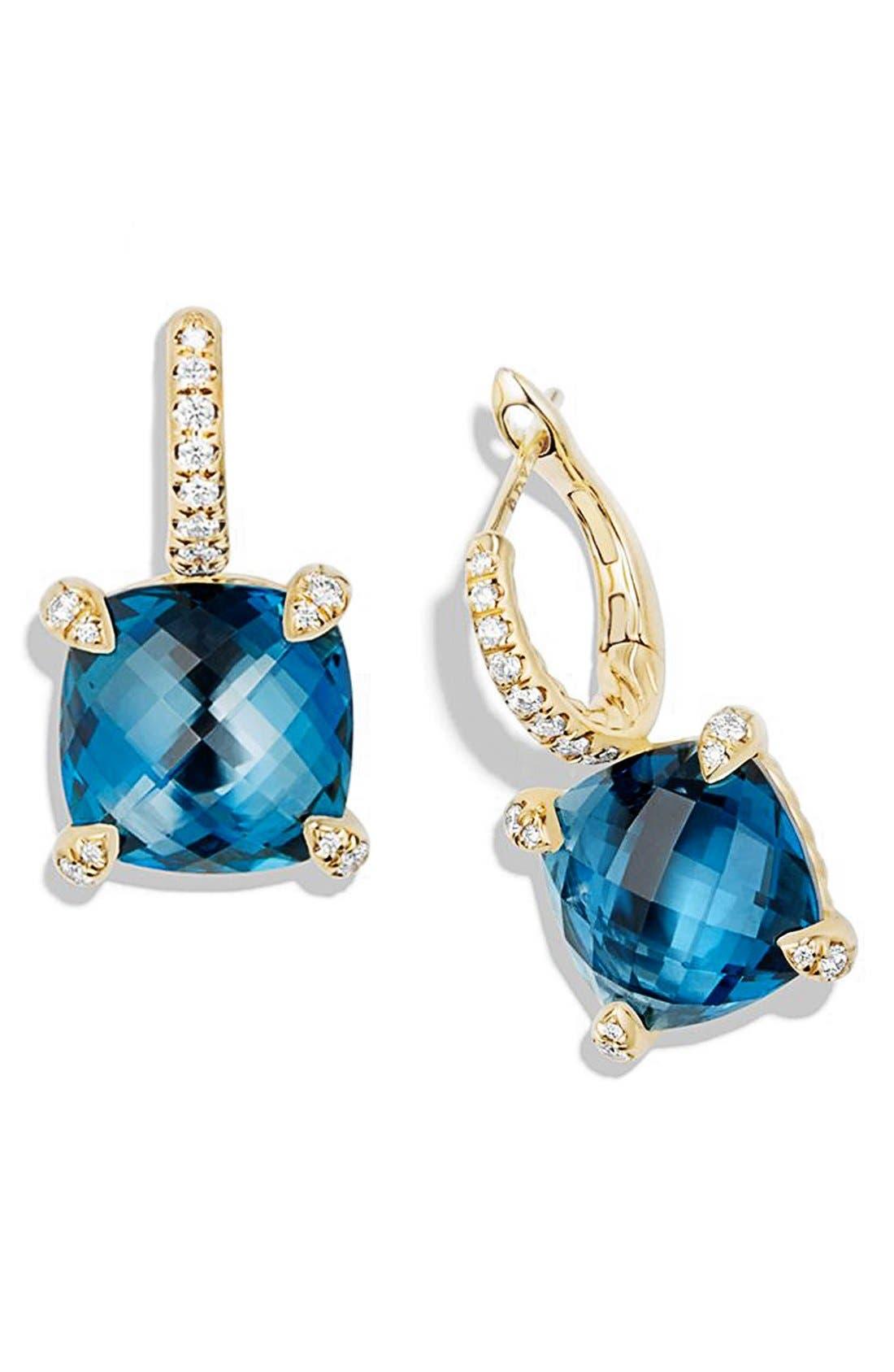 'Chatelaine' Hampton Blue Topaz and Diamonds in 18K Gold,                             Alternate thumbnail 2, color,                             400