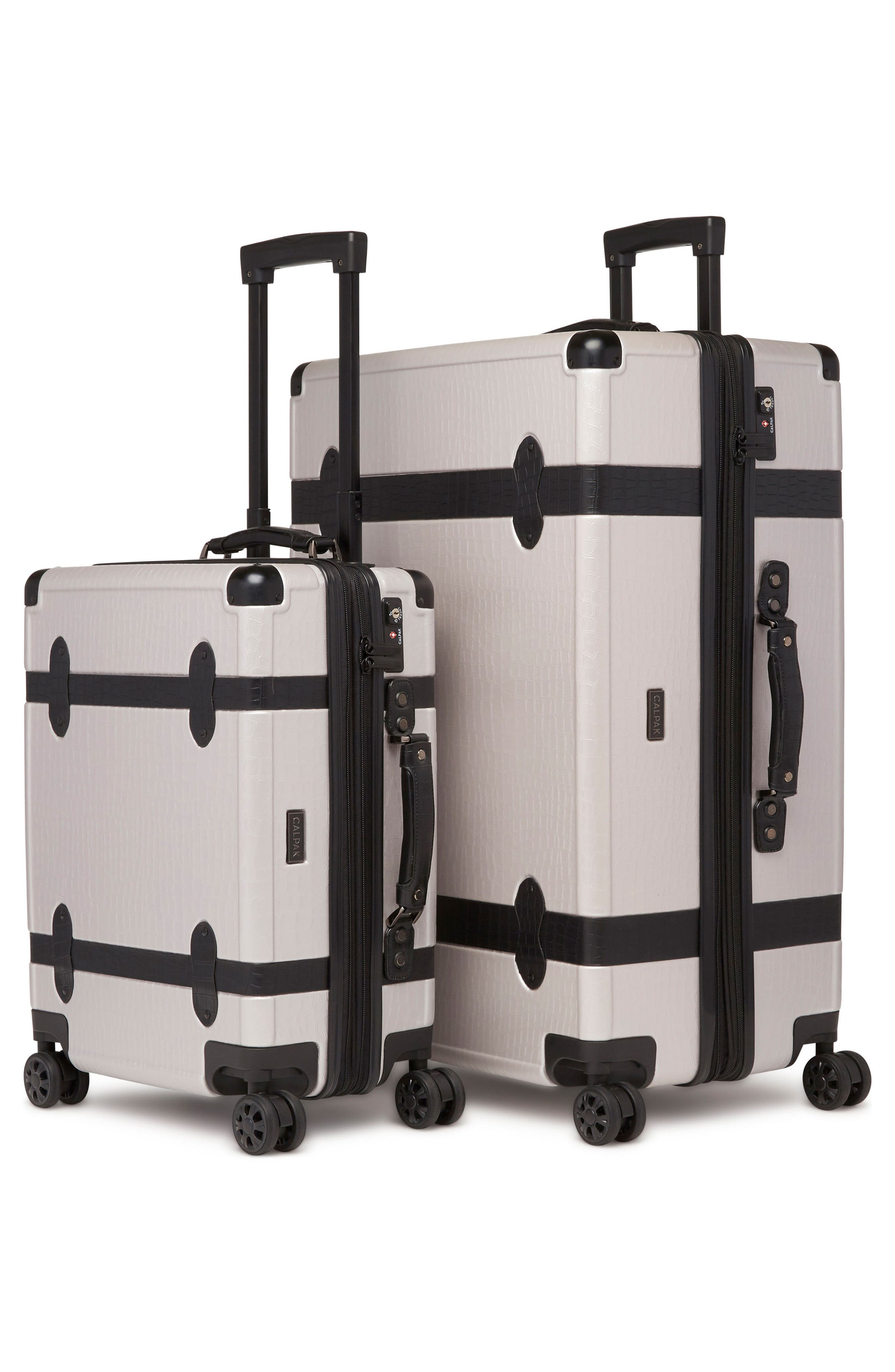 20-Inch & 28-Inch Trunk Rolling Luggage Set,                             Alternate thumbnail 4, color,                             GRAY