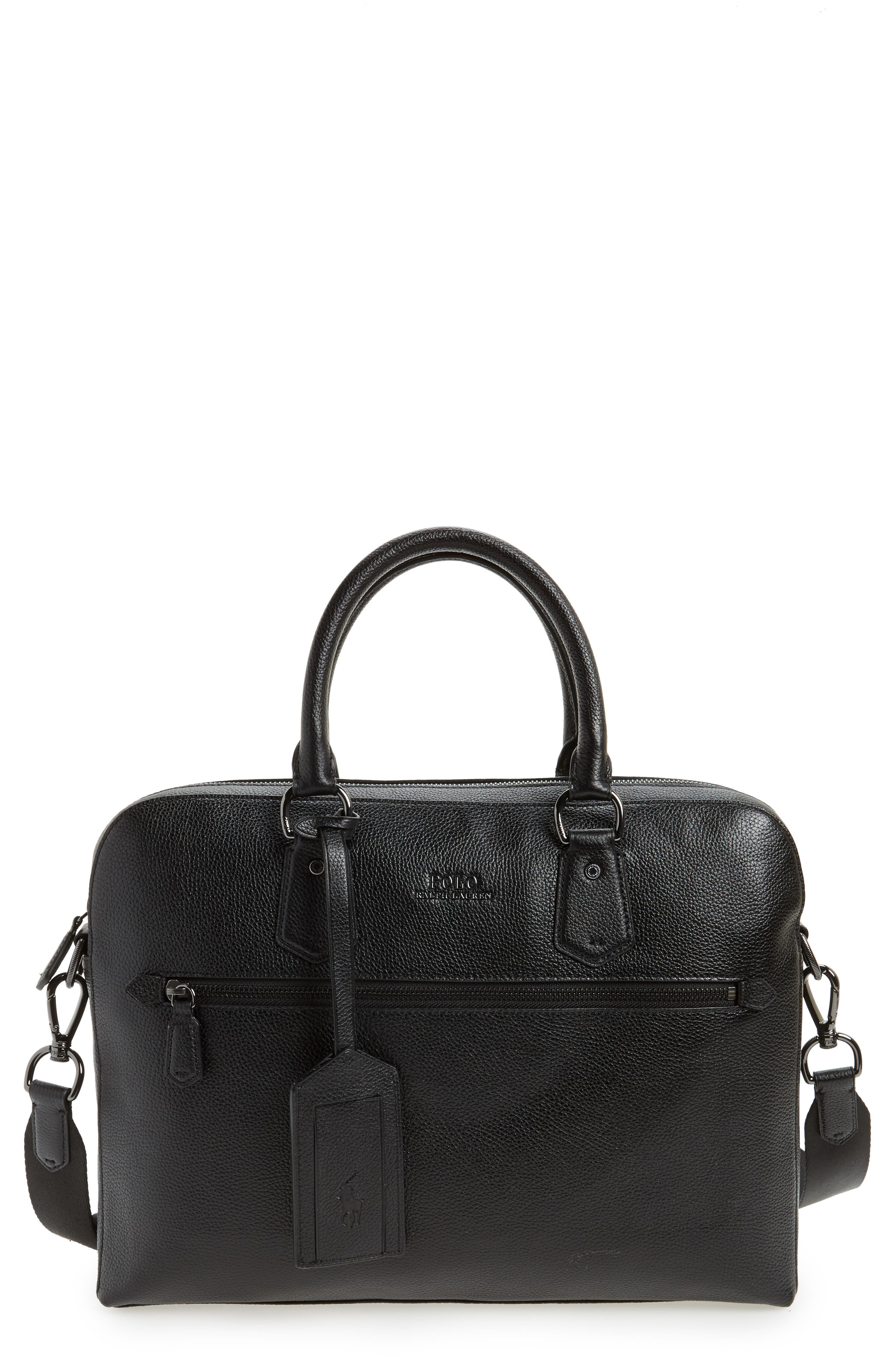 Commuter Leather Briefcase,                             Main thumbnail 1, color,