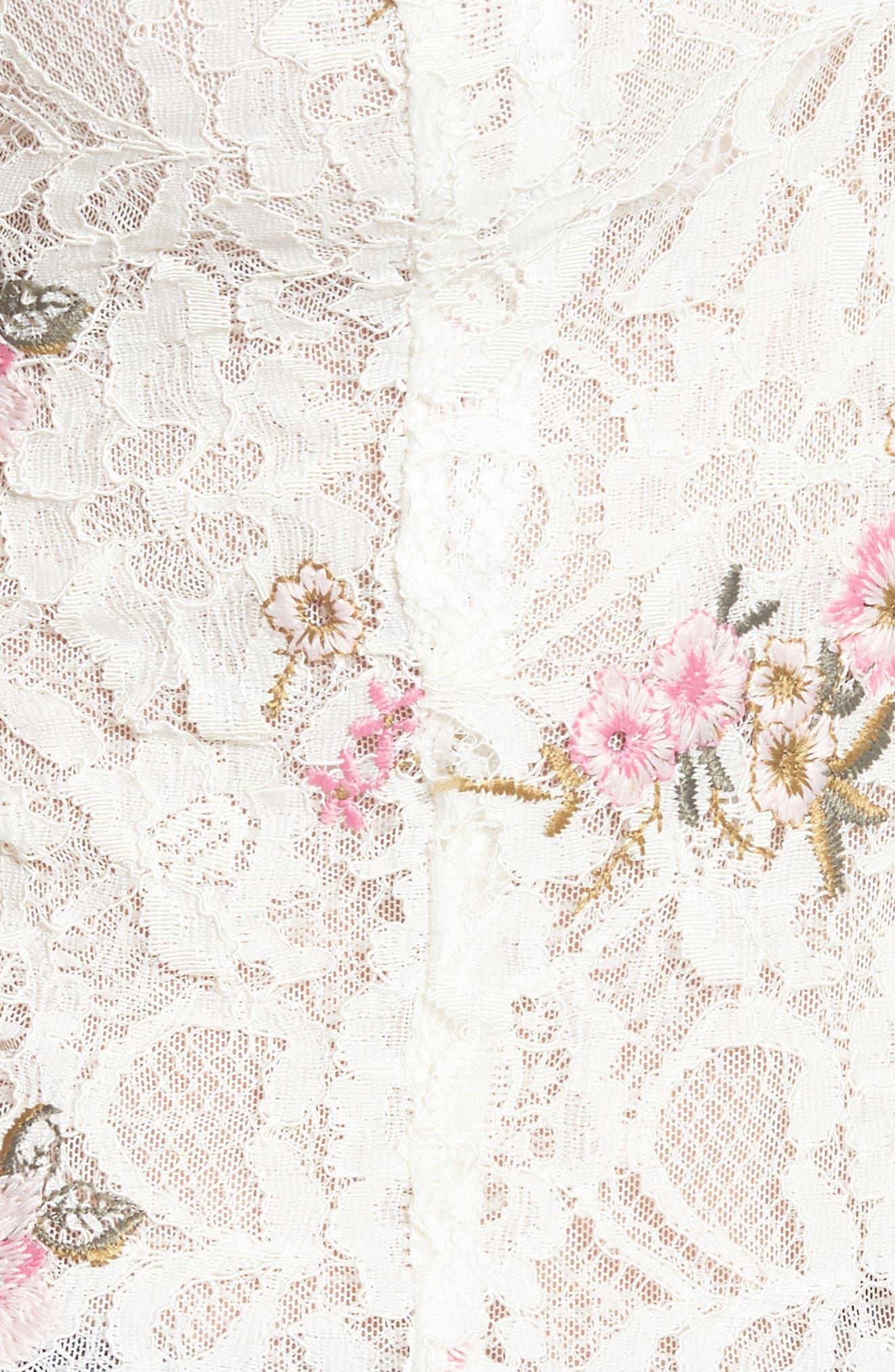 Acerra Lace-Up Lace Top,                             Alternate thumbnail 6, color,                             900