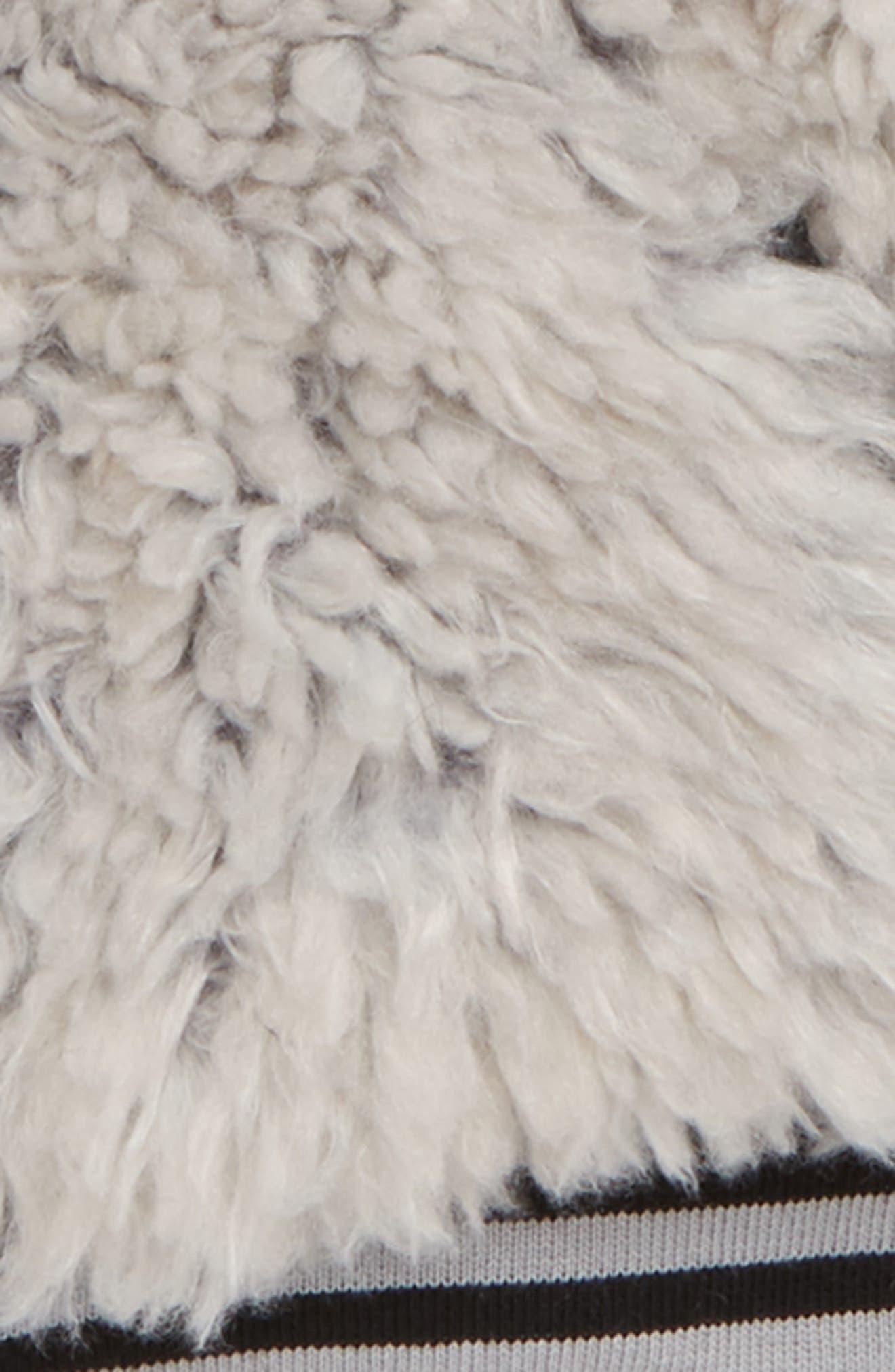 Happy Lil Faux Fur Varsity Jacket,                             Alternate thumbnail 3, color,                             050
