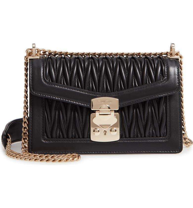 Miu Miu Matelassé Leather Crossbody Bag  65ec1deb13da4