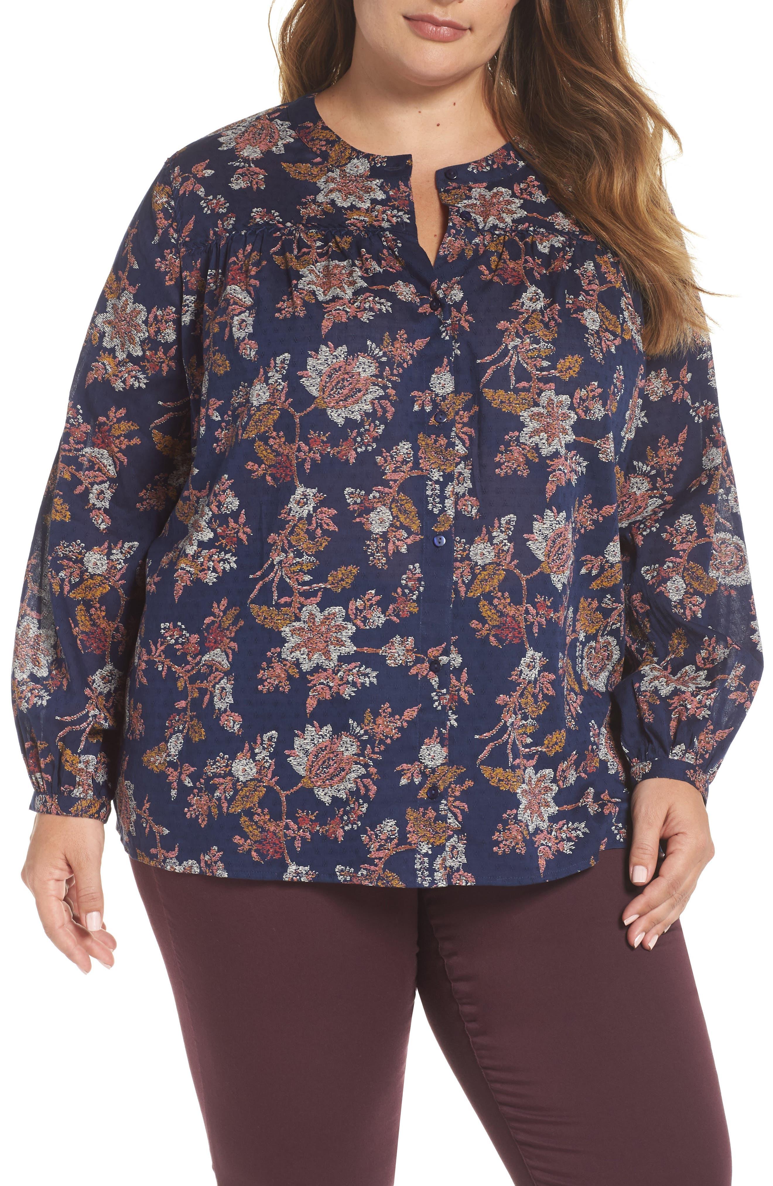 CASLON<SUP>®</SUP>,                             Print Shirt,                             Main thumbnail 1, color,                             410