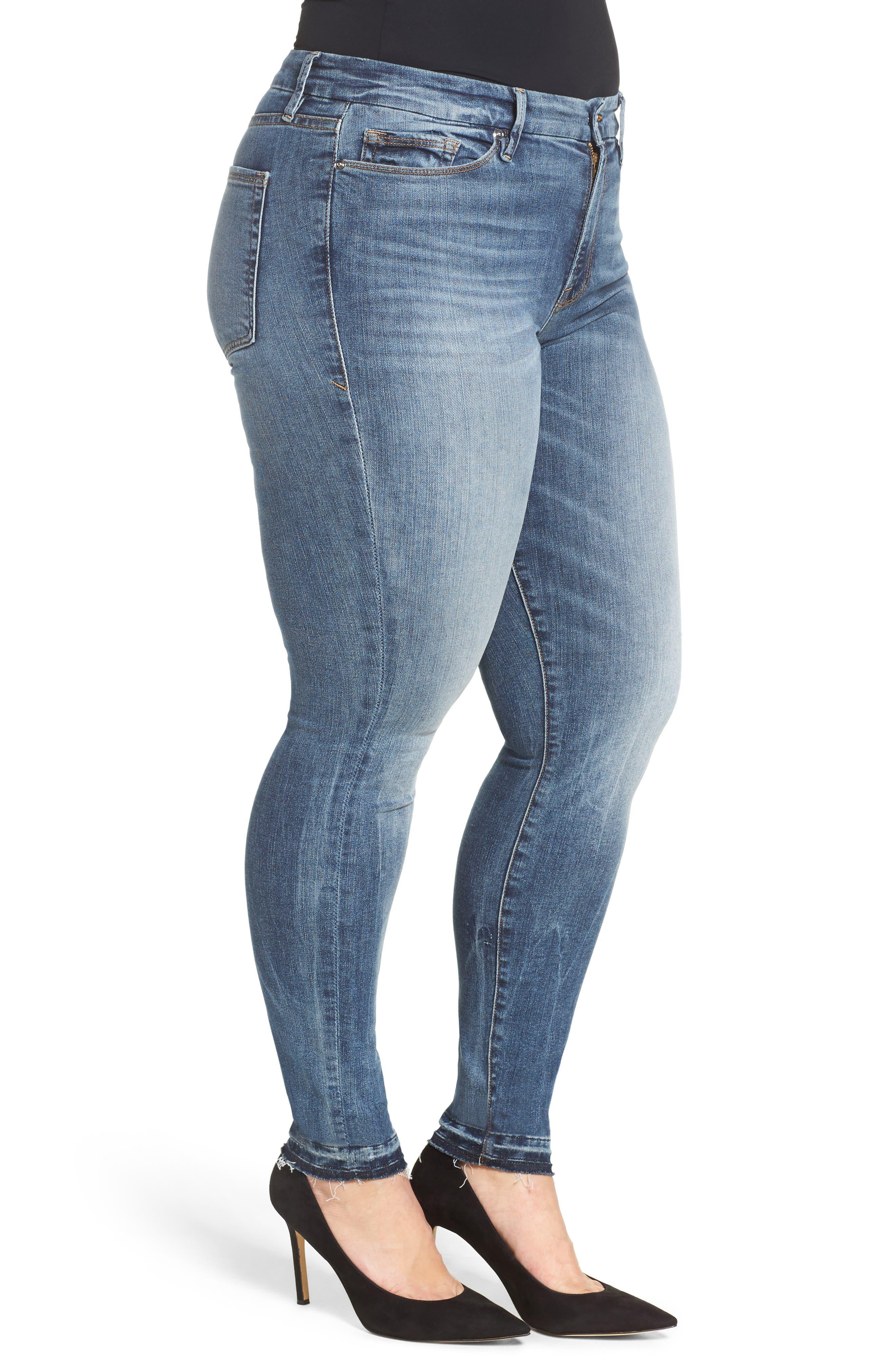 Good Legs High Rise Released Hem Skinny Jeans,                             Alternate thumbnail 3, color,                             402