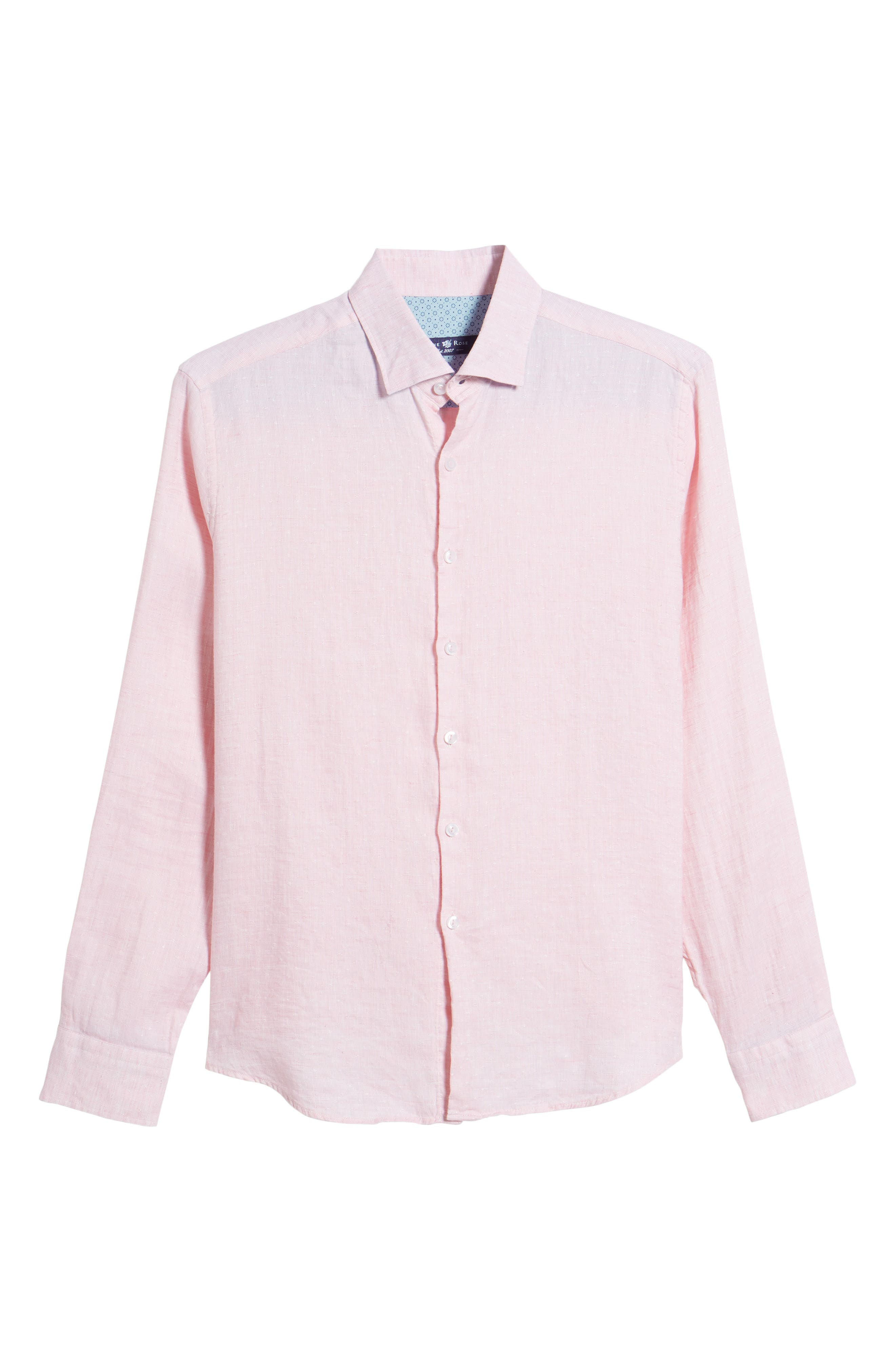 Linen Blend Sport Shirt,                             Alternate thumbnail 18, color,