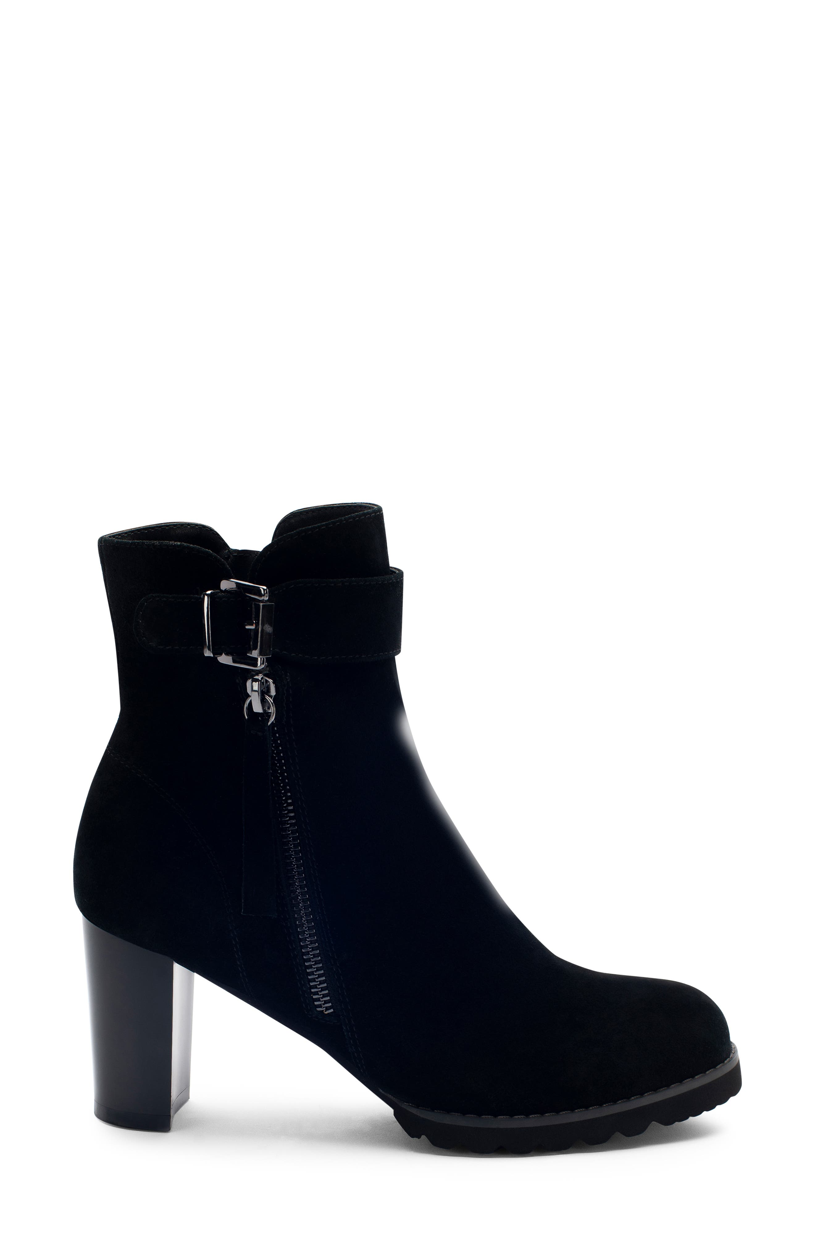 Anic Waterproof Ankle Boot,                             Alternate thumbnail 3, color,                             BLACK SUEDE