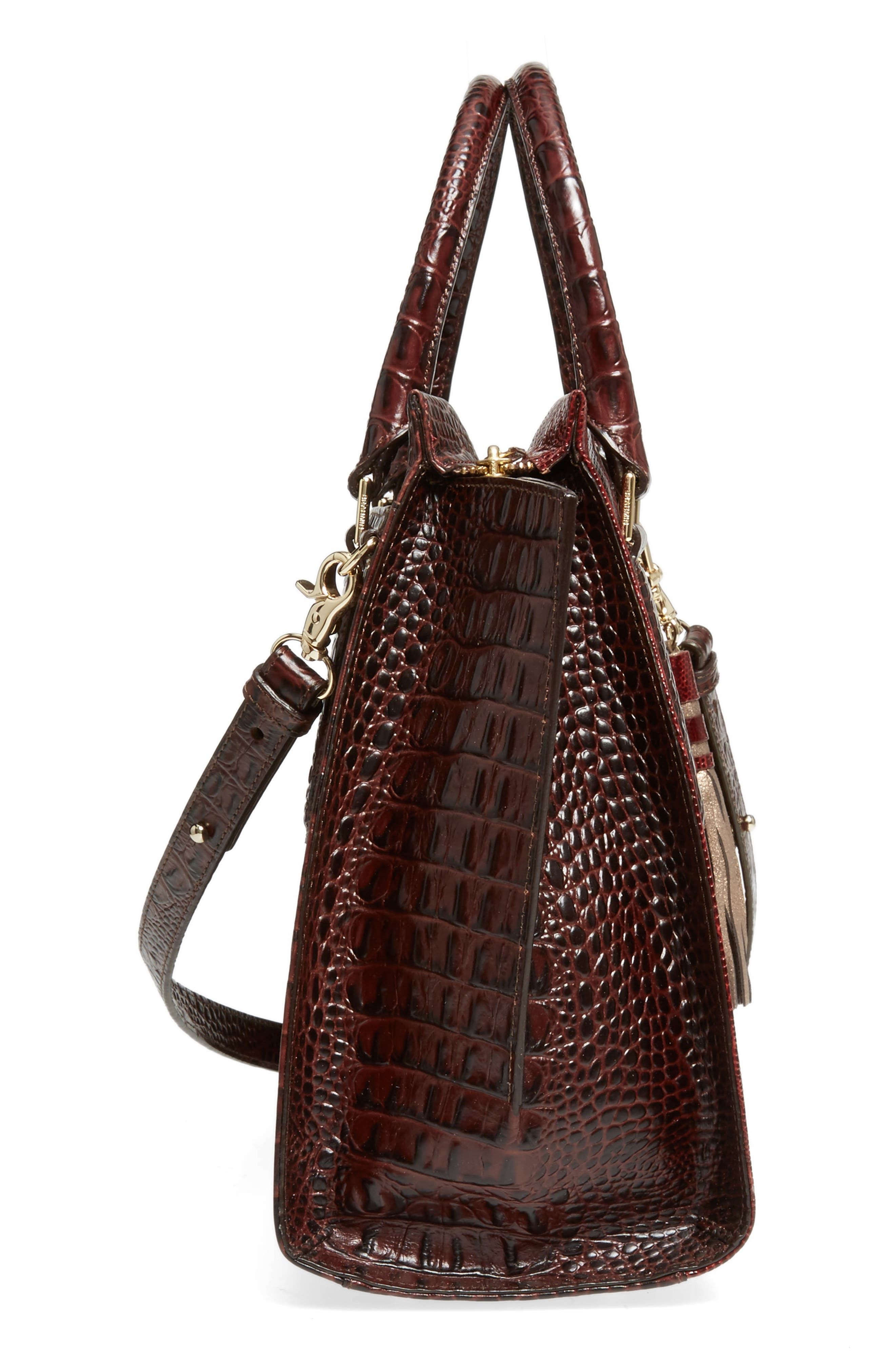Red Verona - Priscilla Leather Satchel,                             Alternate thumbnail 5, color,                             610