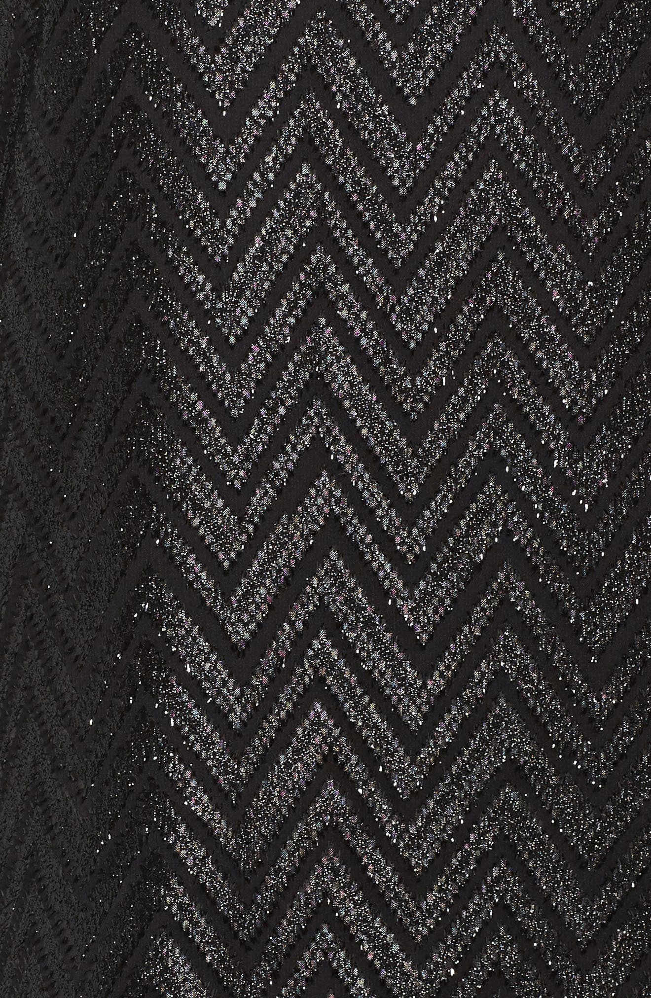 Bell Sleeve Jacquard Top,                             Alternate thumbnail 5, color,                             001