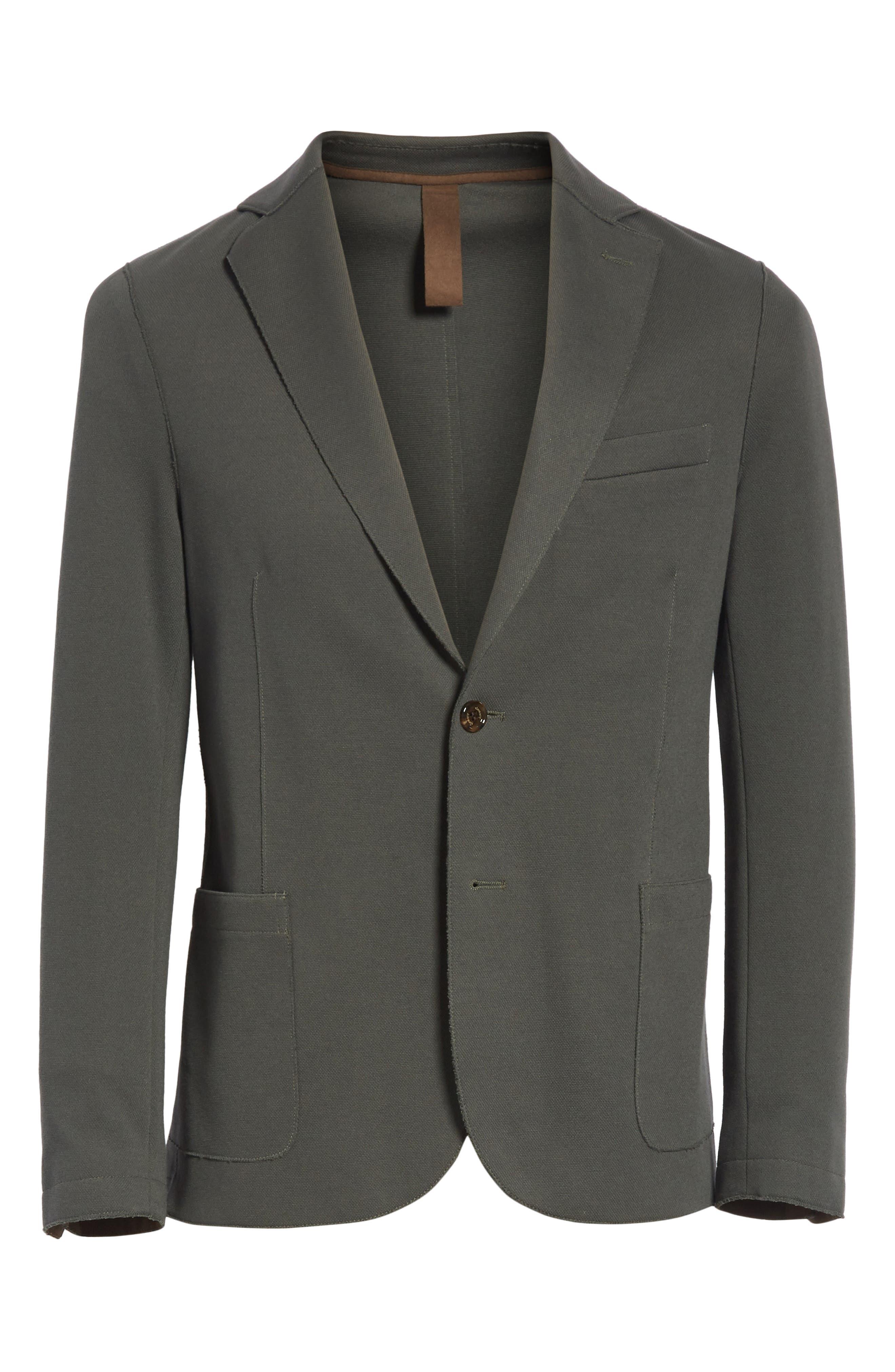 Trim Fit Stretch Cotton Blend Blazer,                             Alternate thumbnail 5, color,